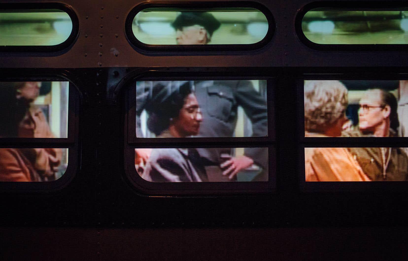 Au musée Rosa Parks, une animation multimédia recrée le moment où l'icône des droits civiques a refusé de céder sa place à un Blanc à bord d'un autobus.