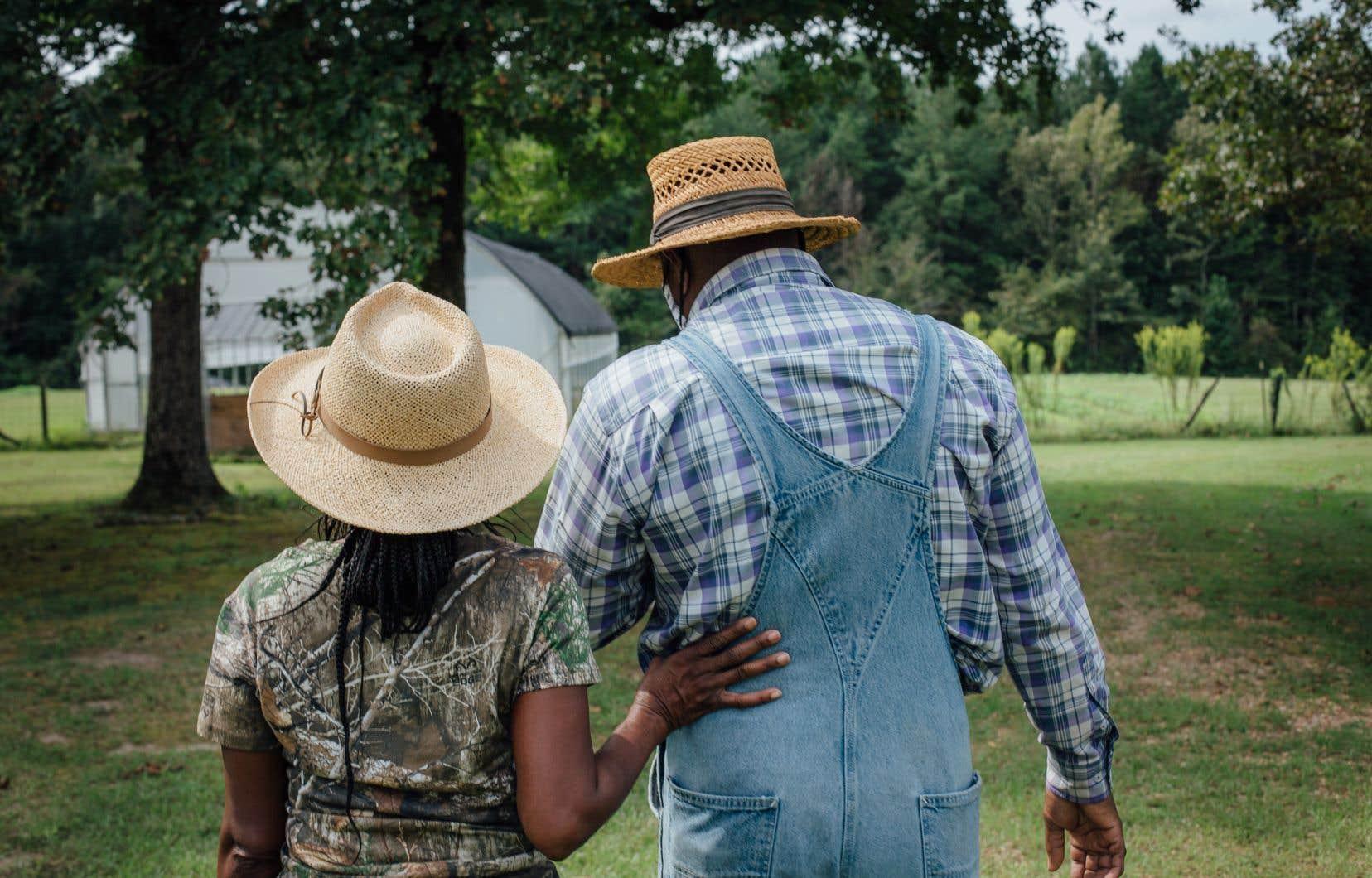 Le Mississippi présente aujourd'hui la plus forte proportion de fermiers afro-américains, avec 13% de propriétaires producteurs, selon le plus récent recensement agricole. Sur la photo, la ferme de Teresa Ervin-Spings et Kevin Springs.