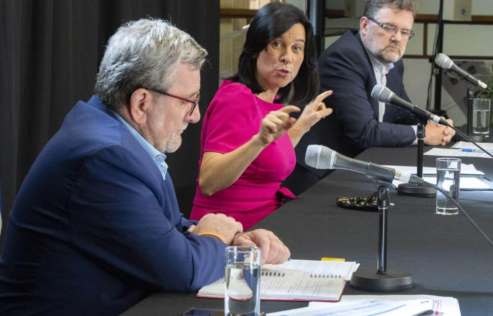 En conférence de presse à Montréal, la mairesse Valérie Plante, accompagnée de ses homologues Régis Labeaume et Maxime Pedneaud-Jobin, a salué cette «victoire».