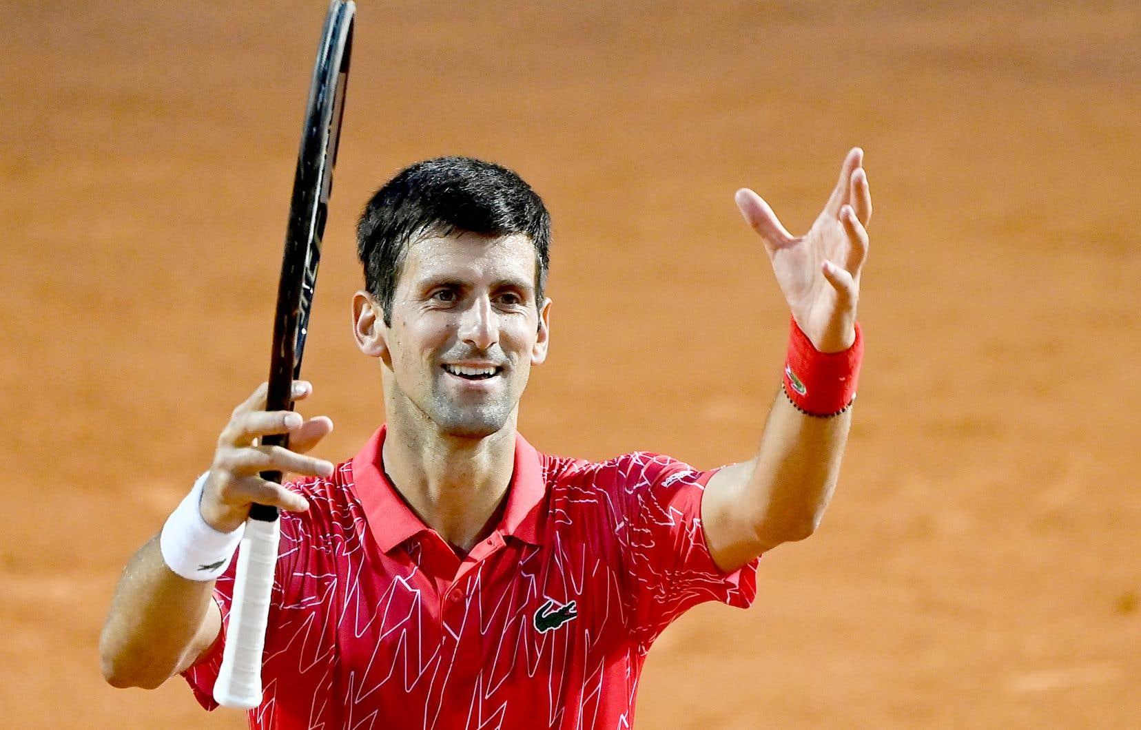 Avec sa victoire contre Diego Schwartzman, lundi, le Serbe Novak Djokovic a remporté un cinquième titre à Rome.