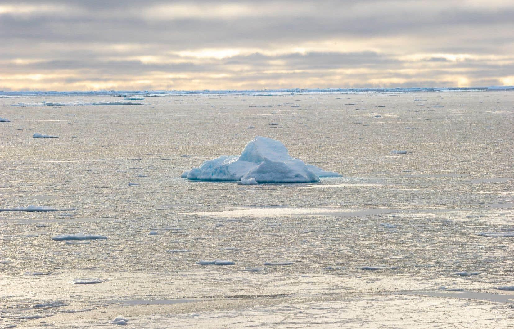 Le Centre américain de données sur la neige et la glace a estimé que la banquise dans l'Arctique a probablement atteint son niveau minimal le 15 septembre. À partir de ce moment, la glace de mer devrait cesser de fondre et recommencer à croître.