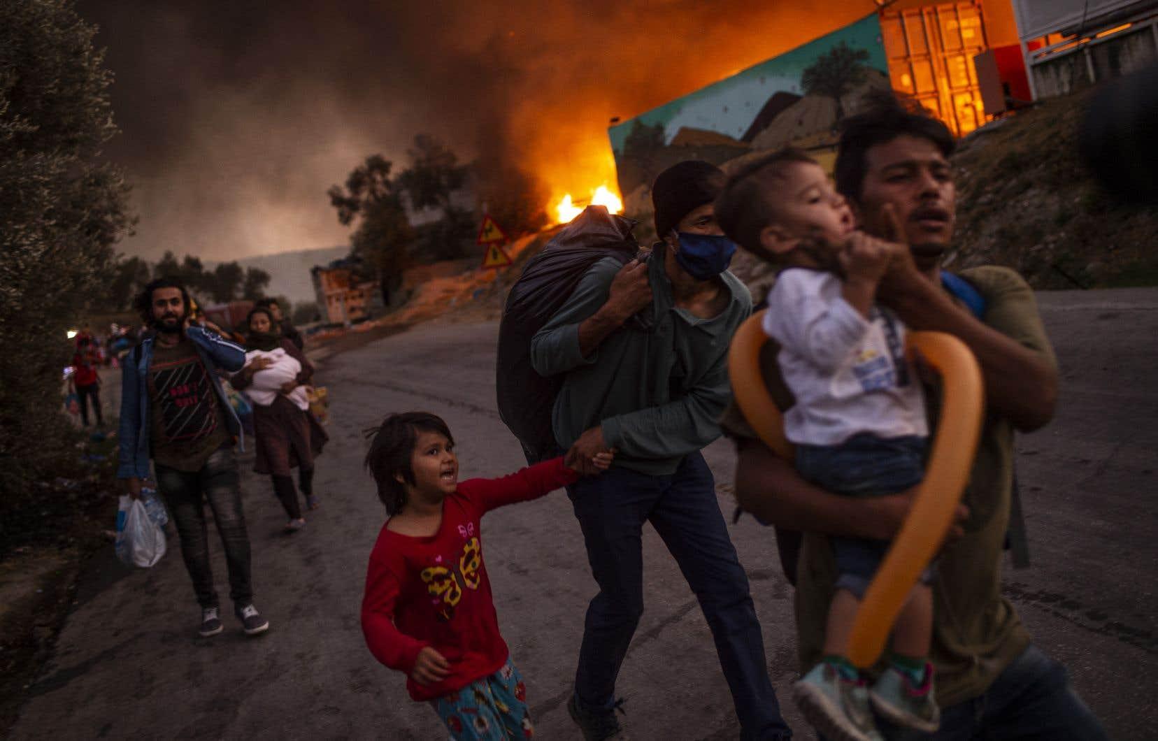 «Nous devons trouver des solutions pérennes sur la migration», a plaidé la présidente de la Commission européenne, Ursula von der Leyen, soulignant que l'incendie du camp grec de Moria était «un rappel brutal».