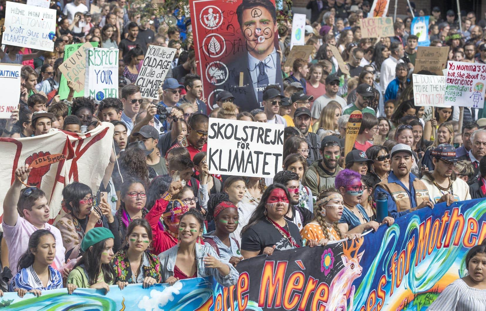 Le 27 septembre 2019, des centaines de milliers de manifestants ont défilé pour le climat dans les rues de Montréal. Y étais-tu?
