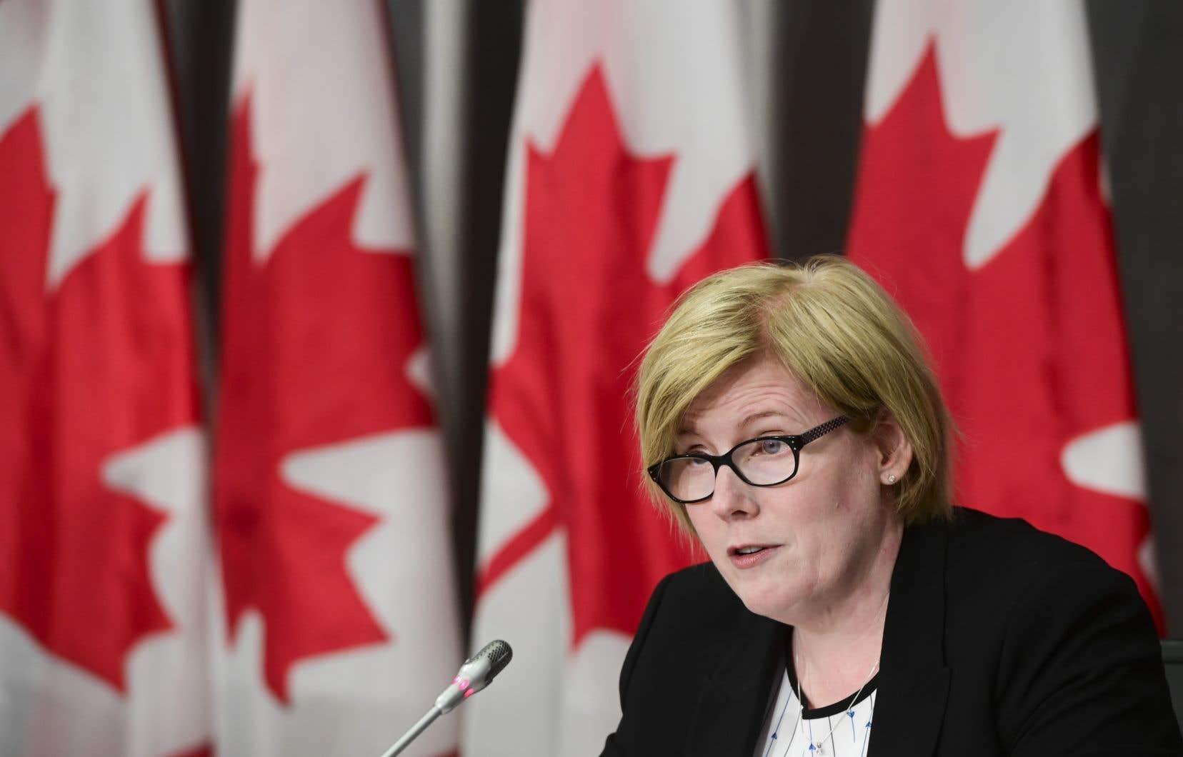 La ministre fédérale de l'Emploi, Carla Qualtrough