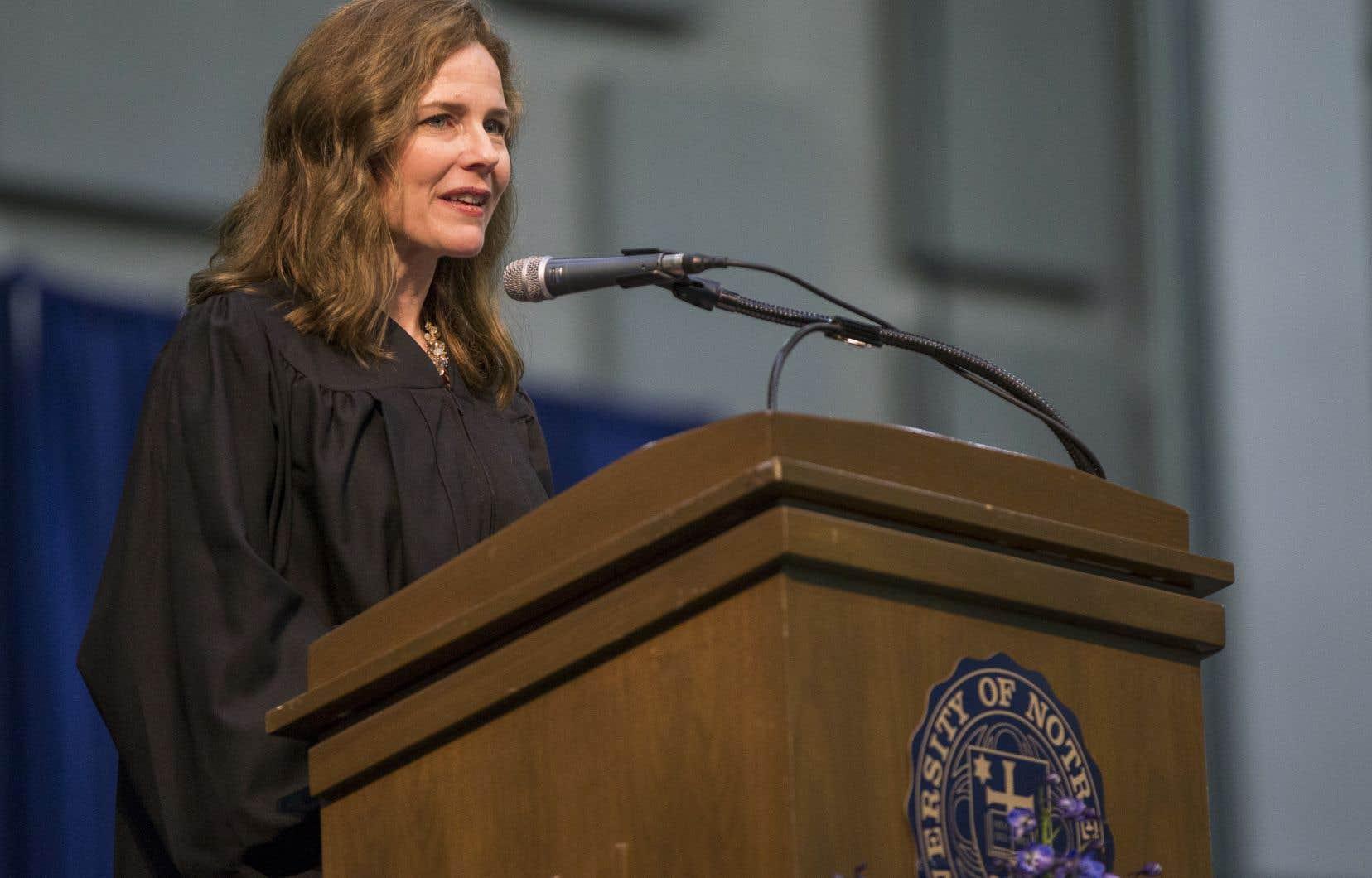 La juge Amy Coney Barrett en 2018