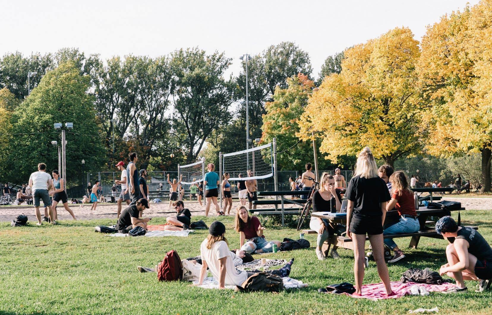 Dans les rues et les parcs de Montréal, l'ambiance n'était pas du tout à la panique, dimanche après-midi.