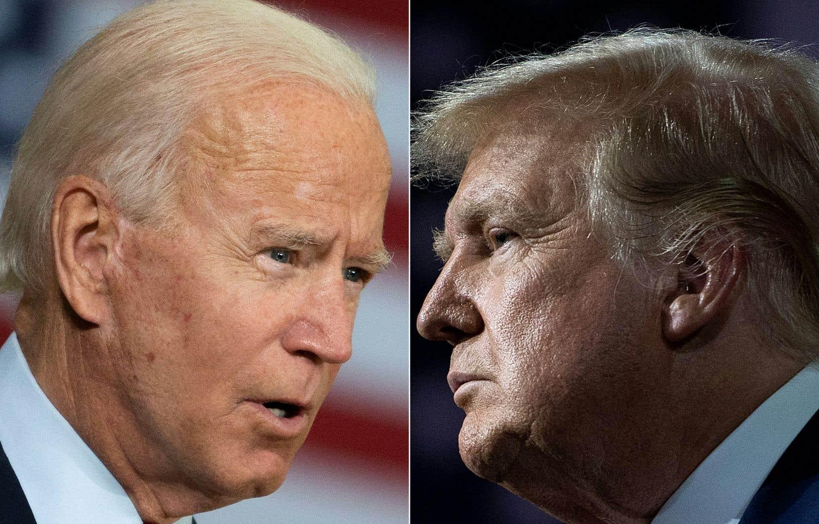 Joe Biden et Donald Trump s'affrontent lors d'un premier débat mardi soir.