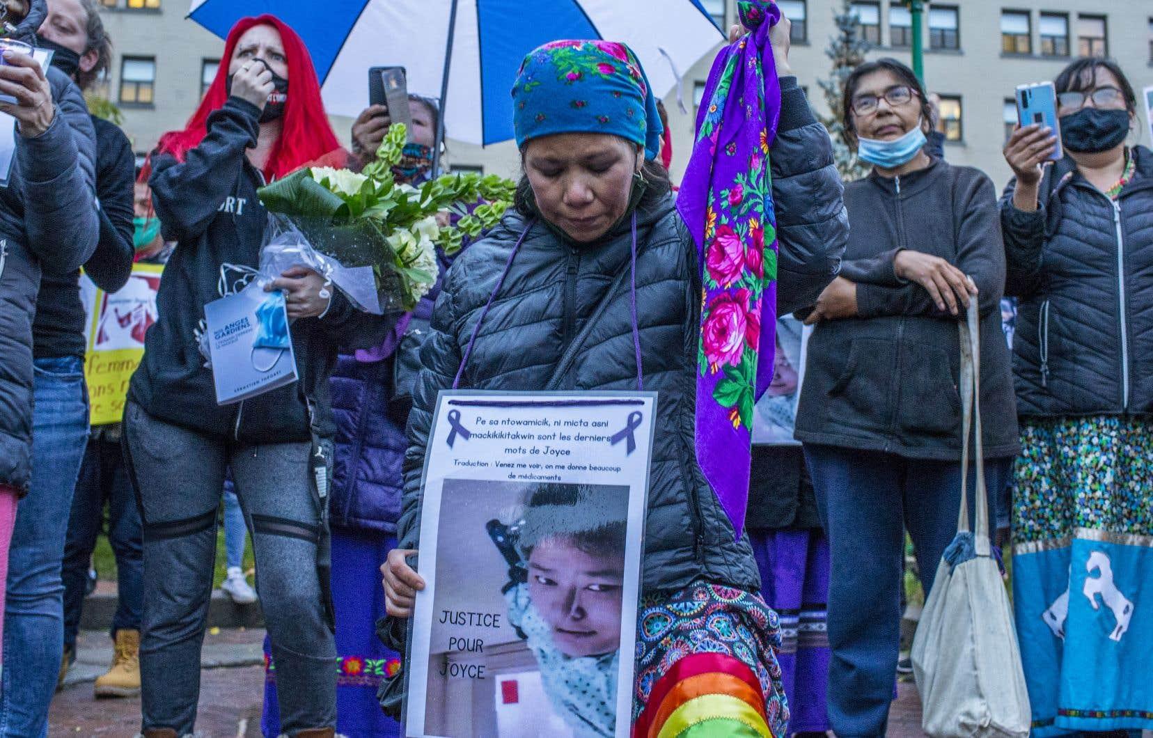 Rassemblement à la mémoire de JoyceEchaquan mardi à Joliette