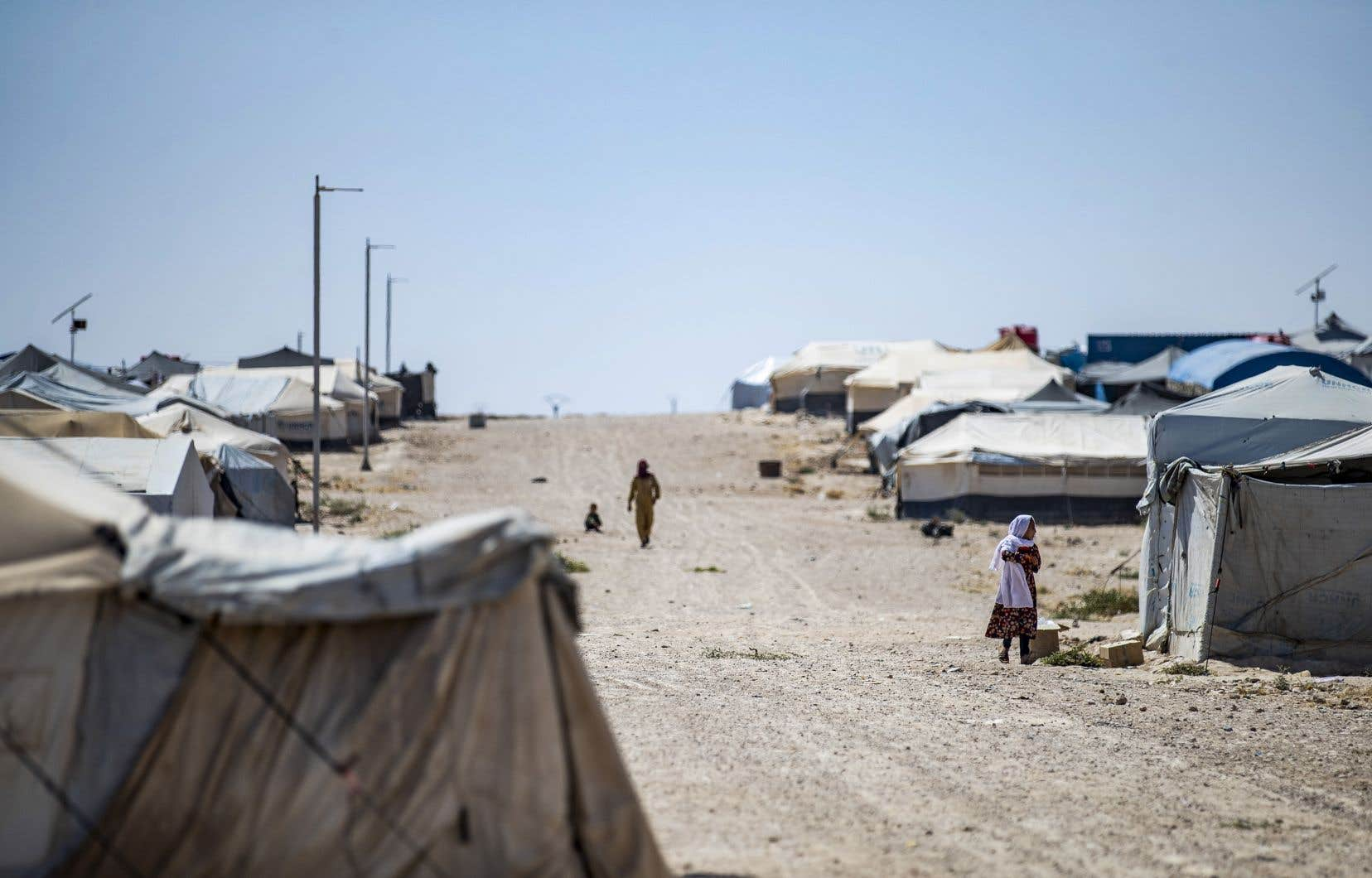 Environ 150 adultes et près de 300 enfants français sont détenus en prison ou dans des camps en Syrie et en Irak, dont celui d'Al-Hol (photo), au nord-est de la Syrie.