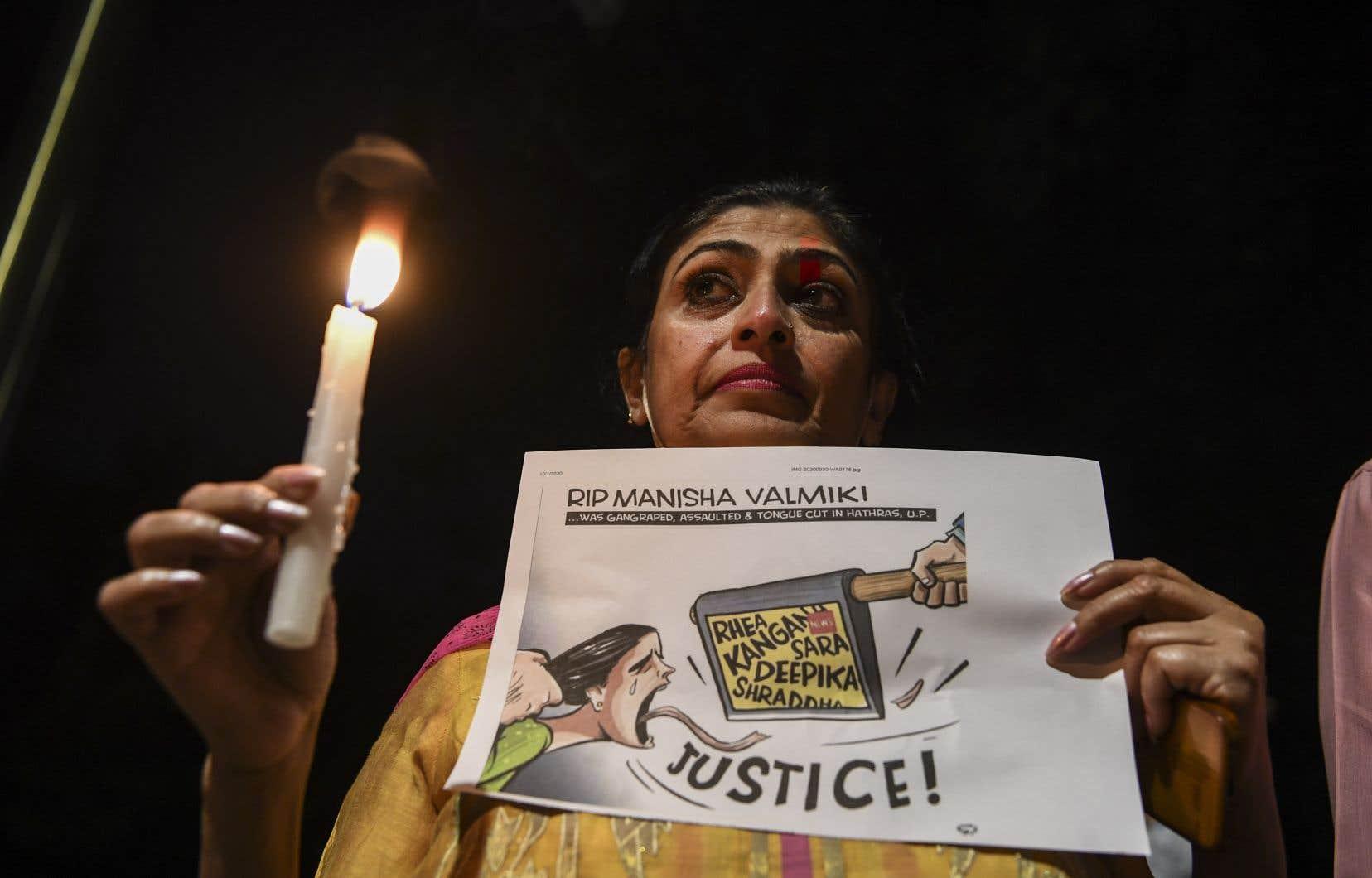 La mort d'une jeune fille de 19ans,attaquée et violée, a déclenché des manifestations dans plusieurs villes, notamment dans l'Uttar Pradesh et à New Delhi.