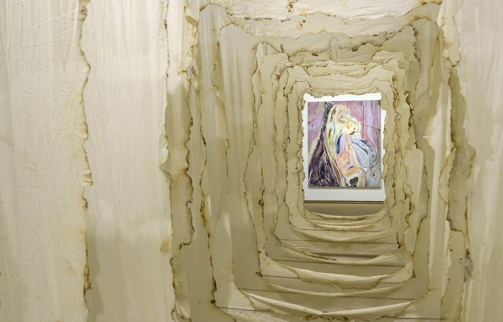 Vue de l'exposition consacrée à l'artiste Manuel Mathieu au Musée des beaux-arts de Montréal