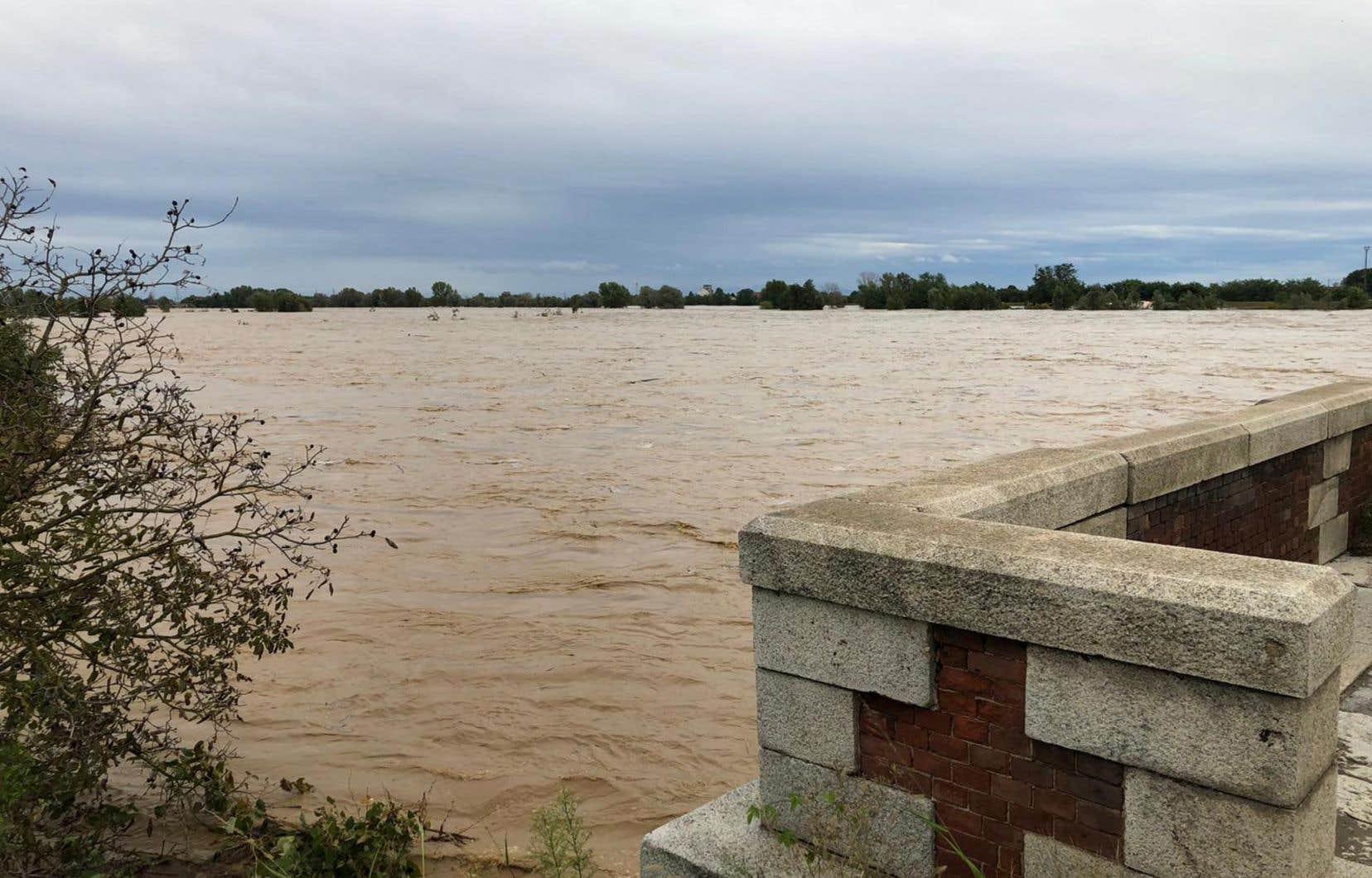 Les zones les plus touchées se situent dans les bassins des rivières Toce, Tanaro, Biellese et Sesia (en photo).