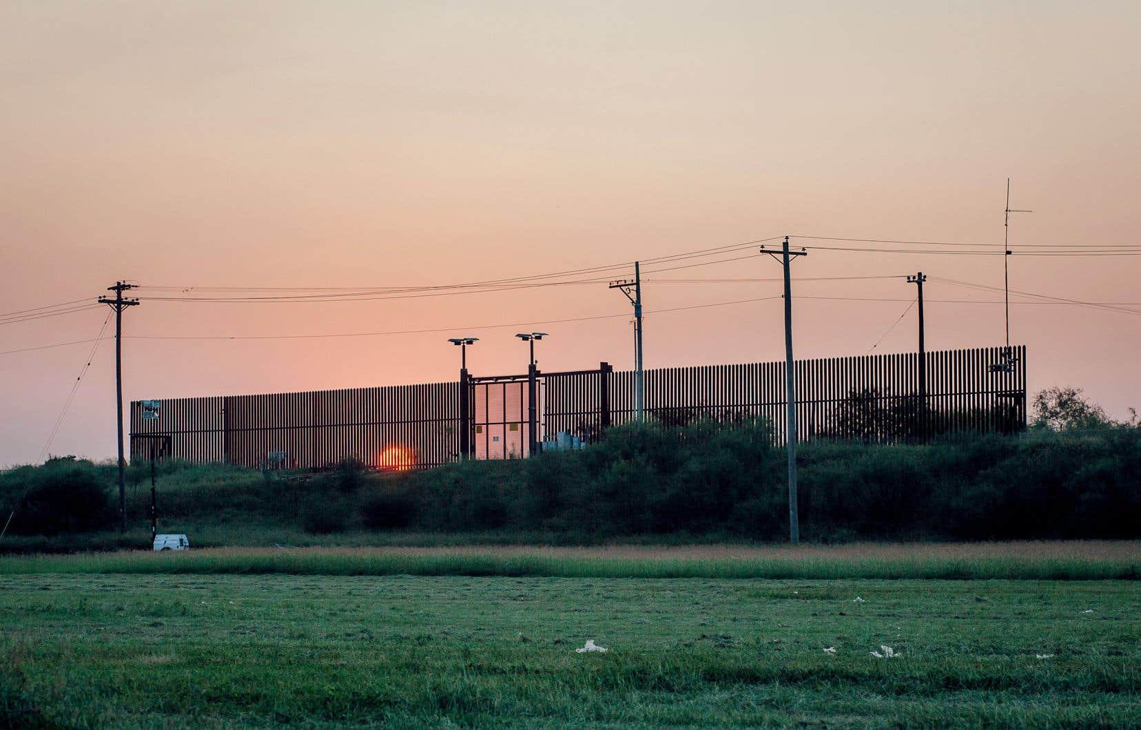 Une portion du mur frontalier
