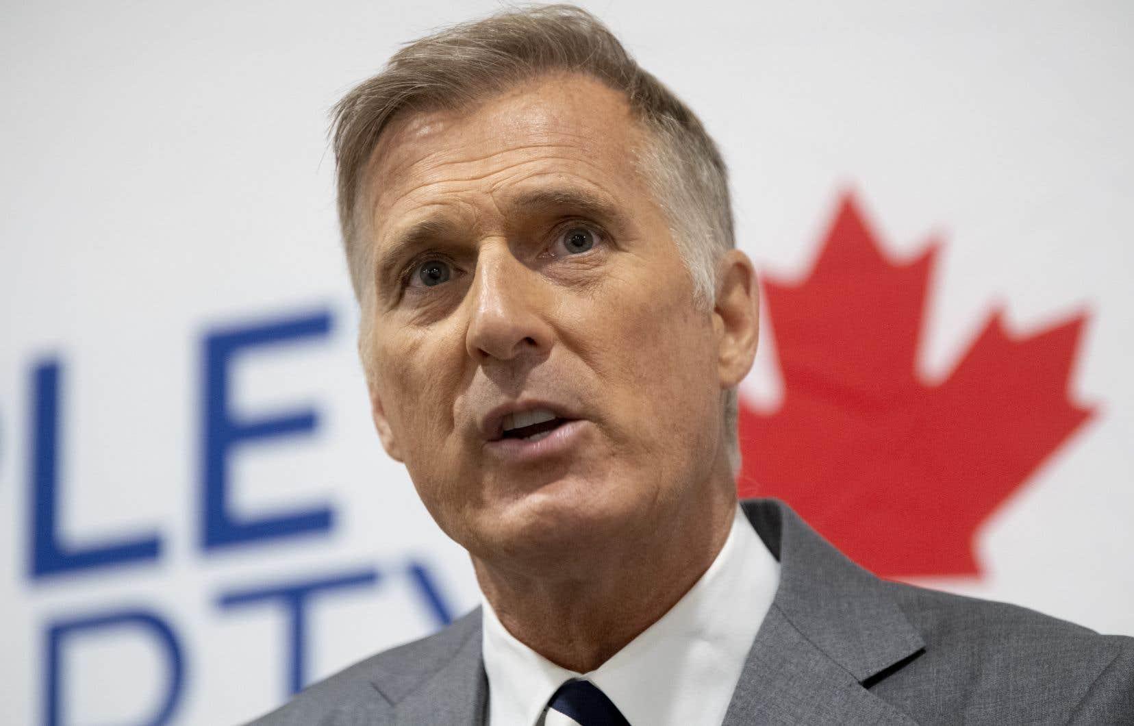 Le chef du Parti populaire et ex-député de Beauce, Maxime Bernier