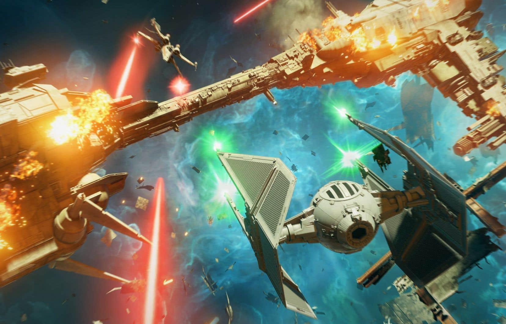 La campagne solo de «Star Wars: Squadrons», qui dure environ 10 heures, a des allures de long didacticiel qui prépare le joueur au multijoueur. Et c'est bien en ligne que le jeu brille de tous ses feux.