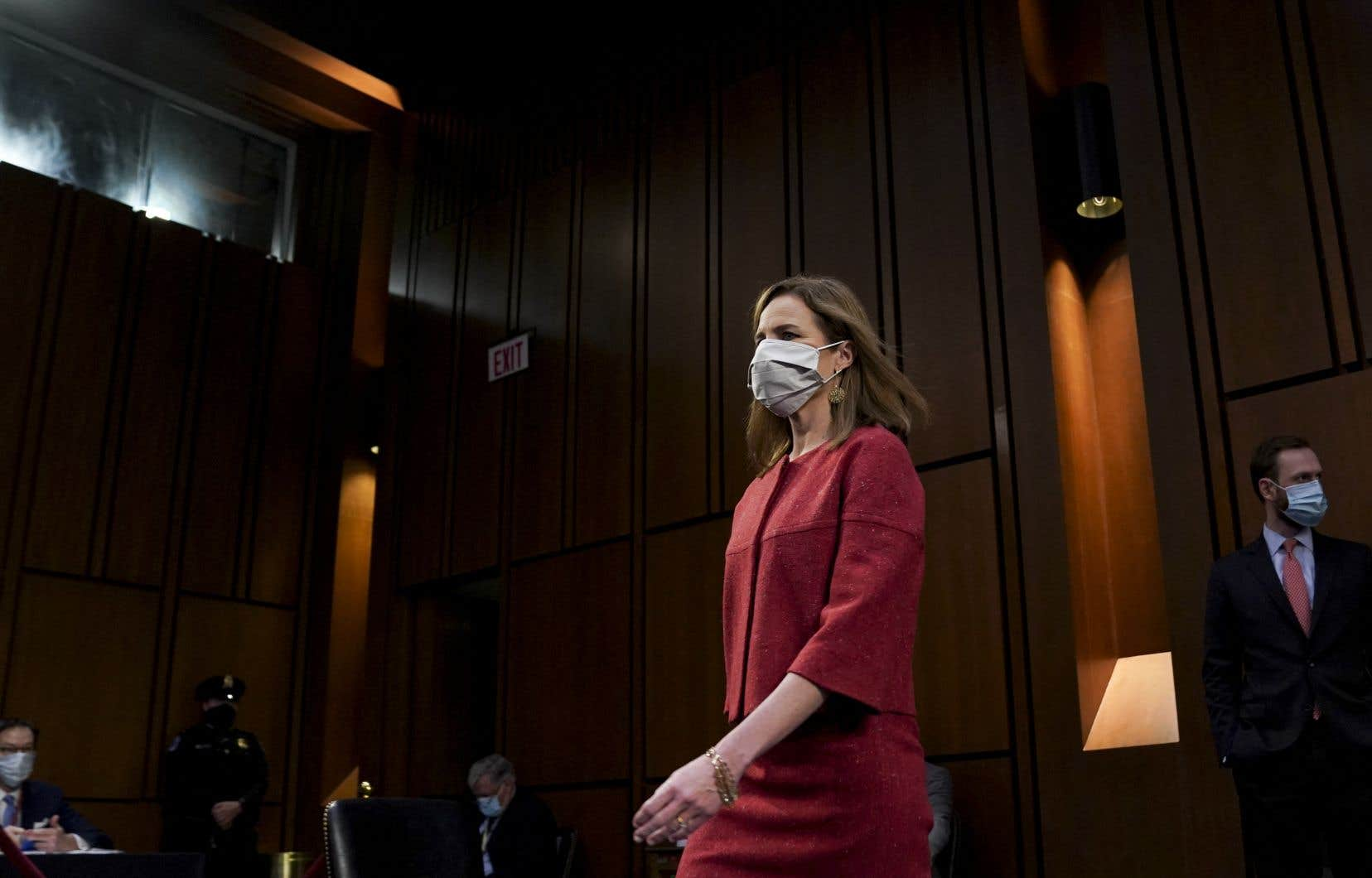 Le 26septembre, le président républicain a désigné Amy Coney Barrett pour succéder à la juge progressiste Ruth Bader Ginsburg, décédée huit jours plus tôt.