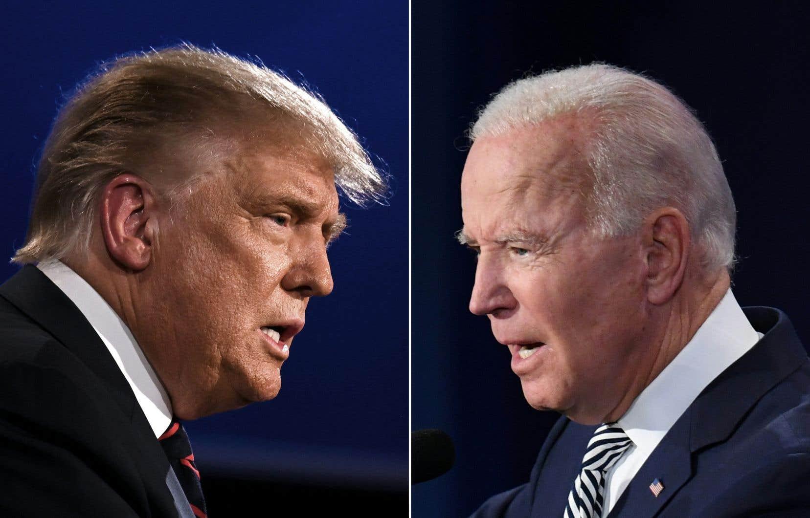 Le président Donald Trump et son adversaire démocrate, Joe Biden