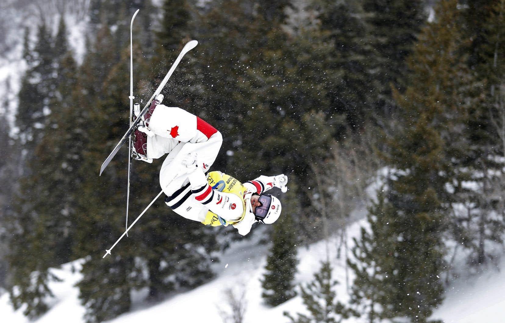 Mikaël Kingsbury lors de la Coupe du monde de Deer Valley, en Utah, en février de cette année
