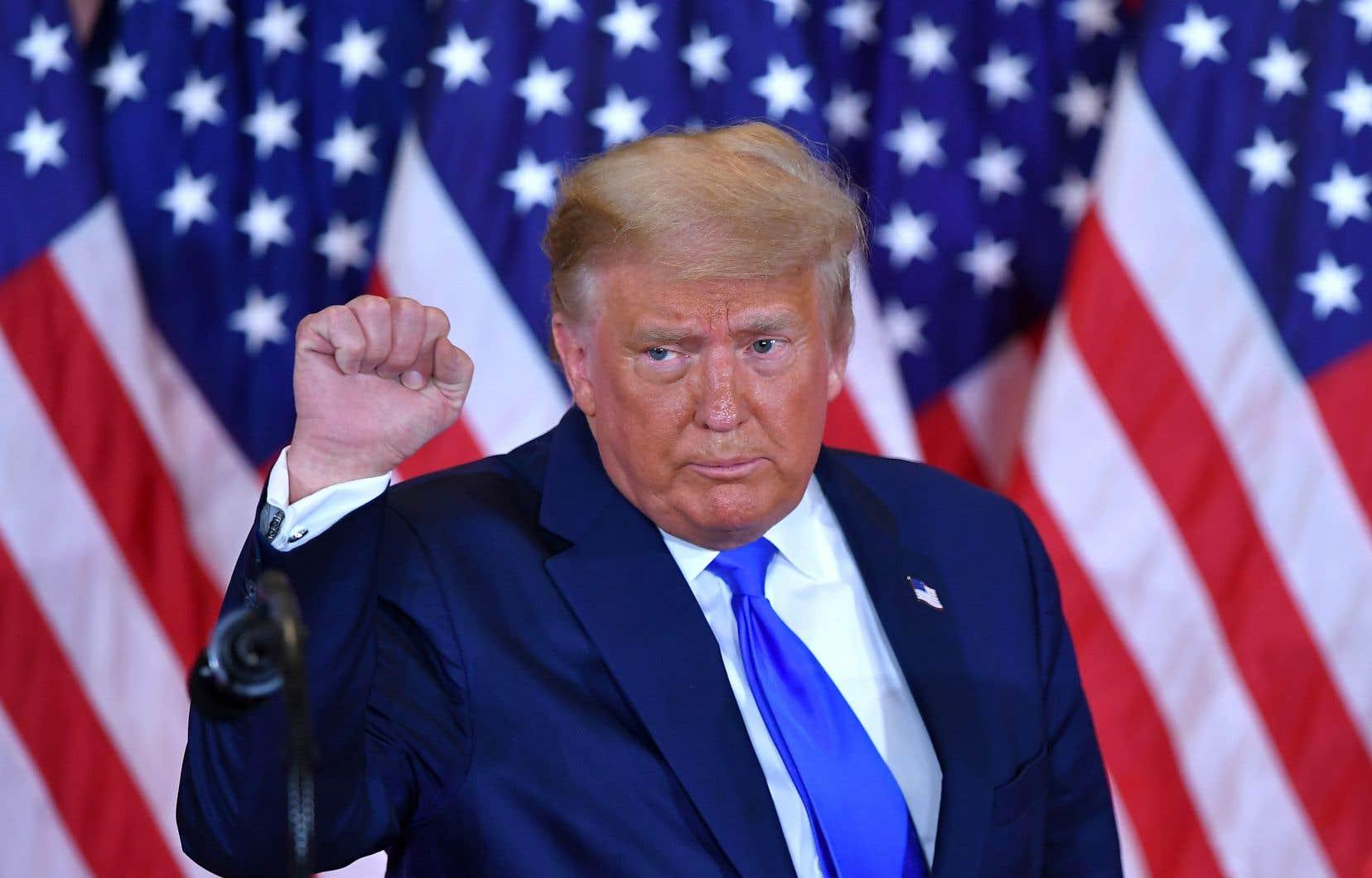 «Nous nous apprêtions à gagner cette élection. Et bien franchement, nous avons gagné cette élection», a clamé Donald Trump.