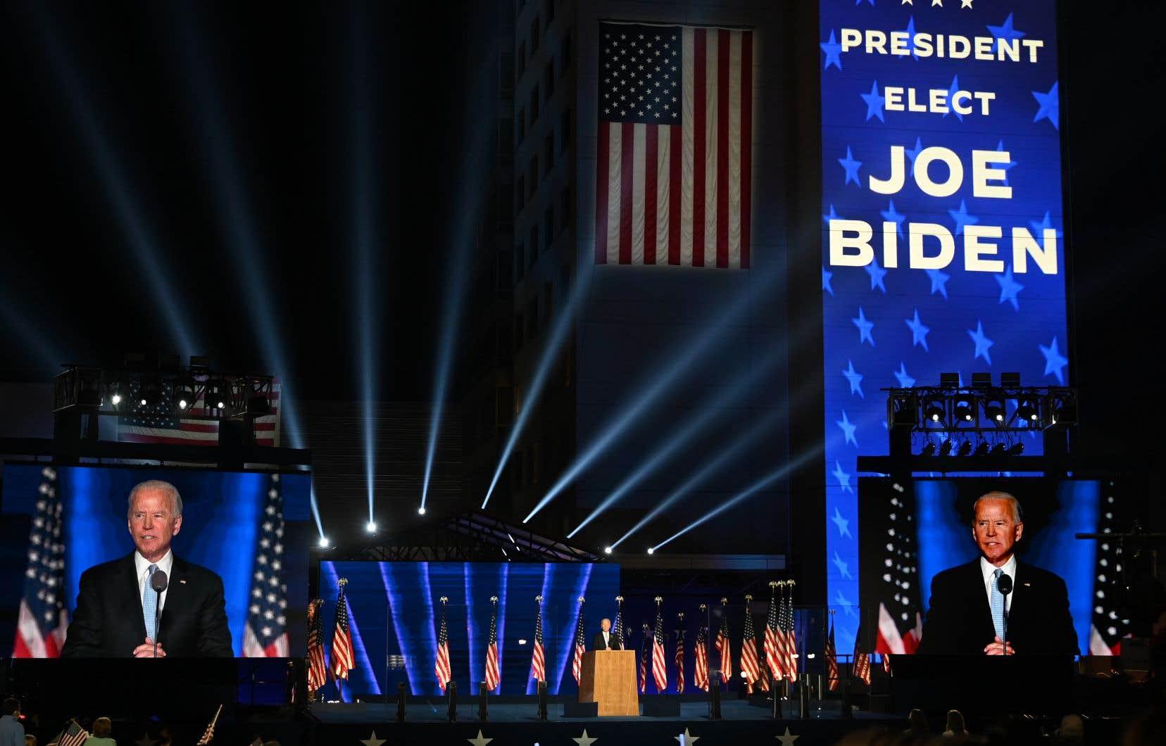 Joe Biden, samedi soir, à Wilmington