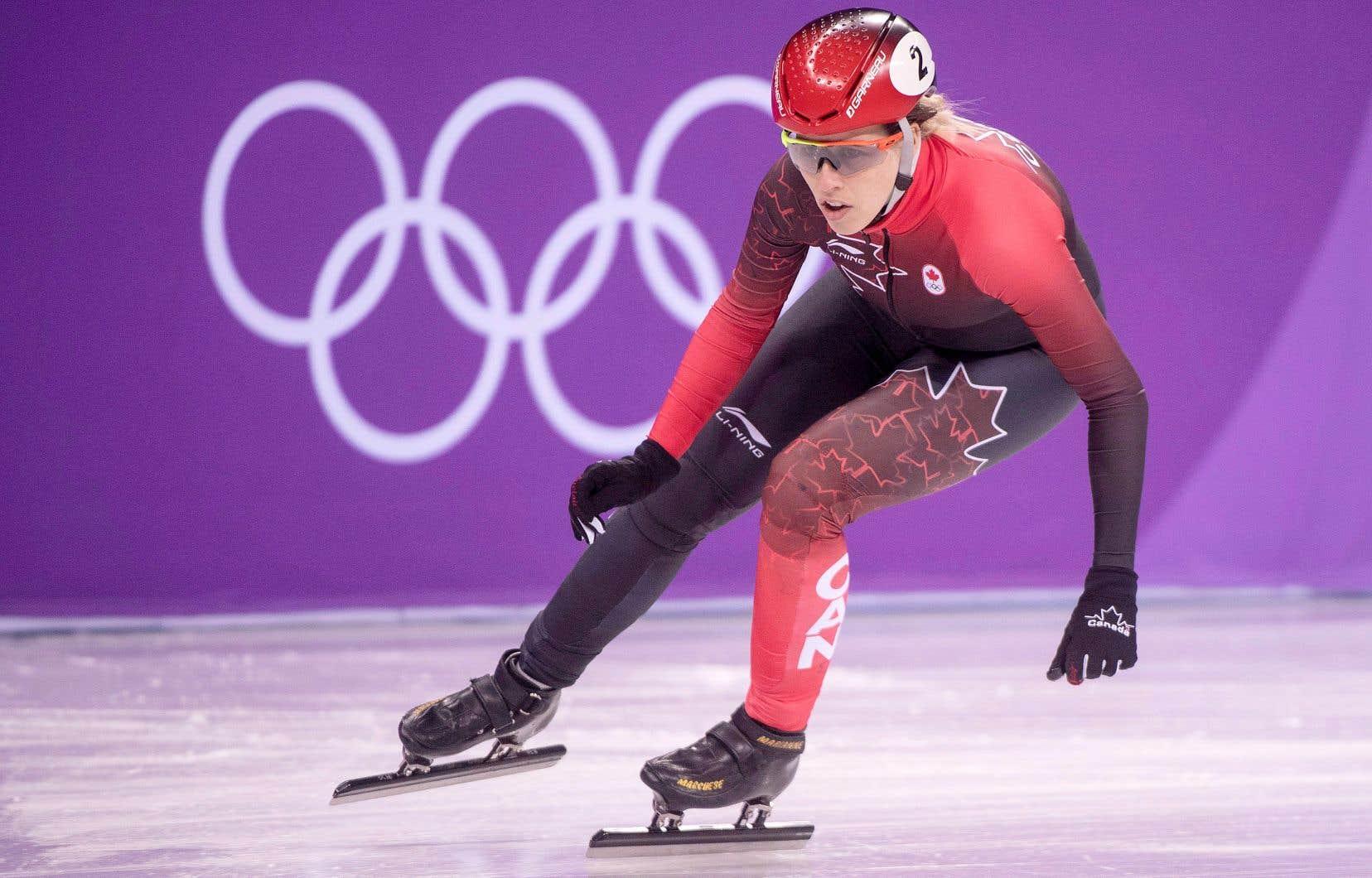 Marianne St-Gelais lors des Jeux olympiques d'hiver de PyeongChang en 2018