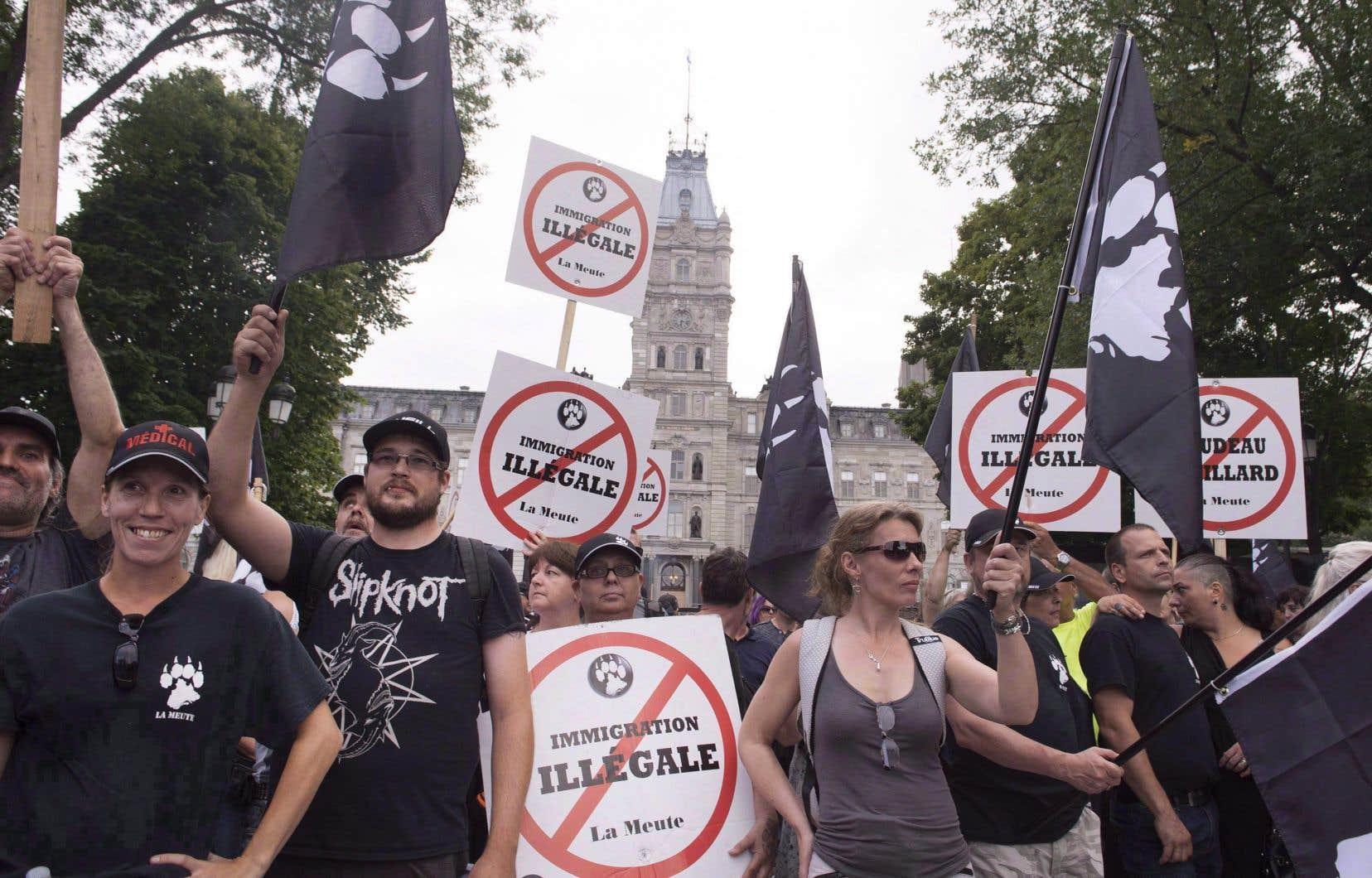 «Entre 2015 et juin 2019, l'extrême droite de Québec a organisé pas moins de 116 activités publiques», écrit l'auteur.