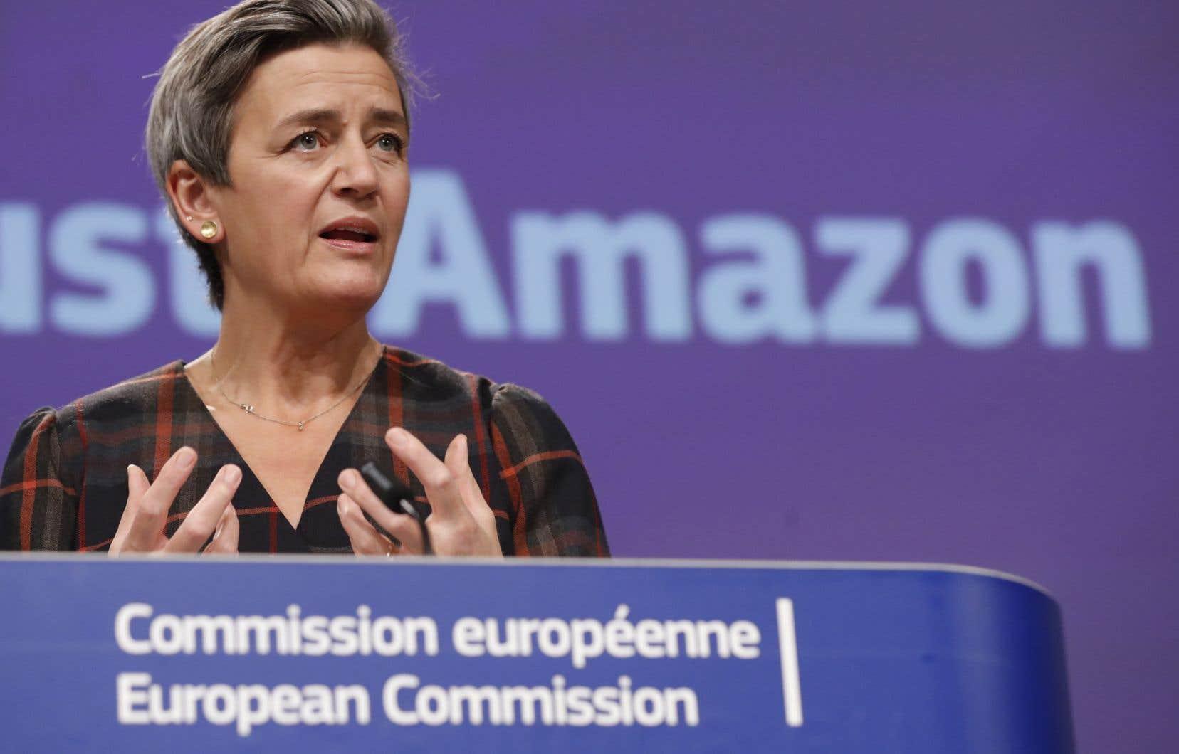 Margrethe Vestager, vice-présidente exécutive de la Commission européenne, le 10 novembre à Bruxelles
