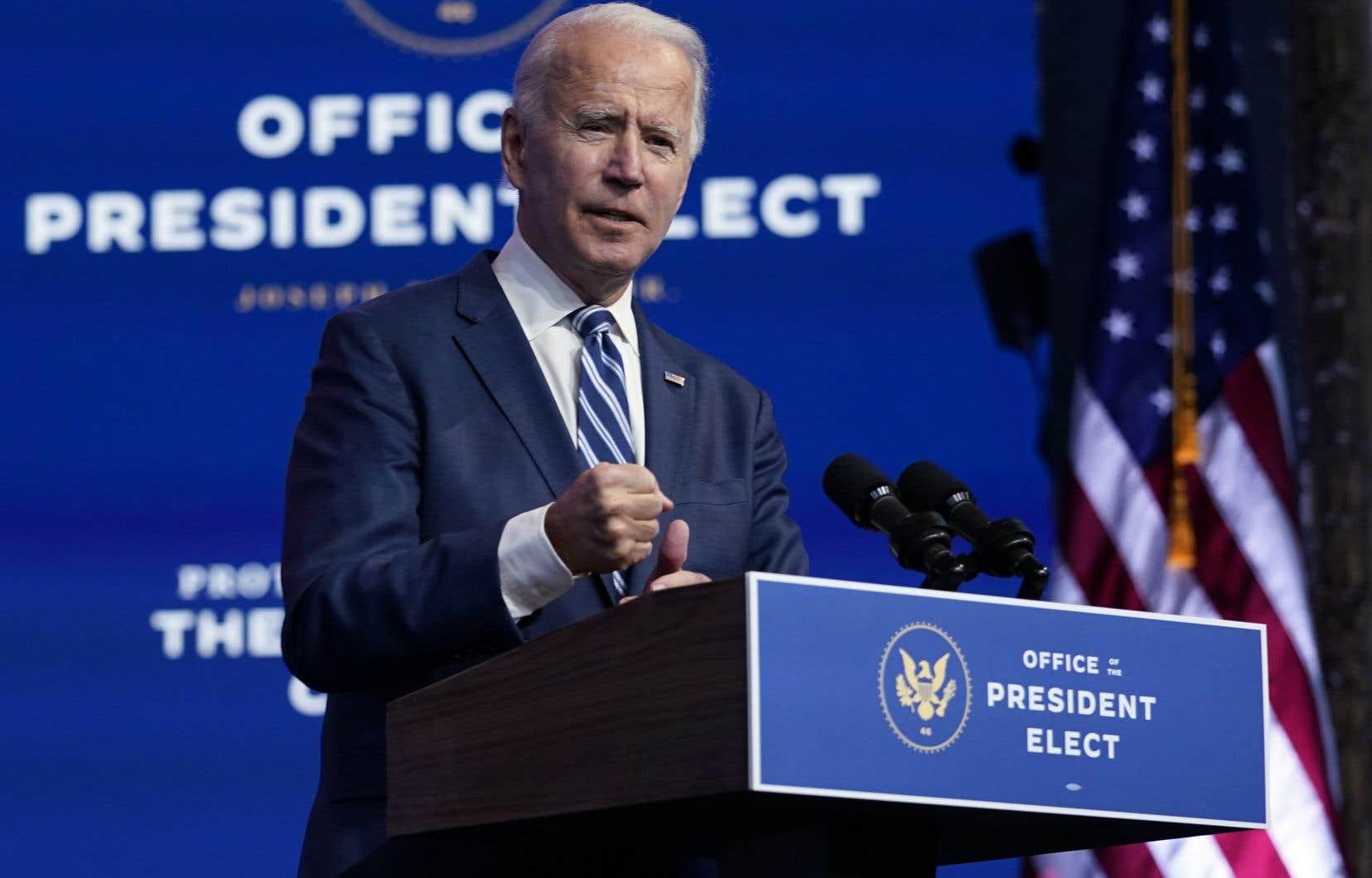 Le président élu, Joe Biden