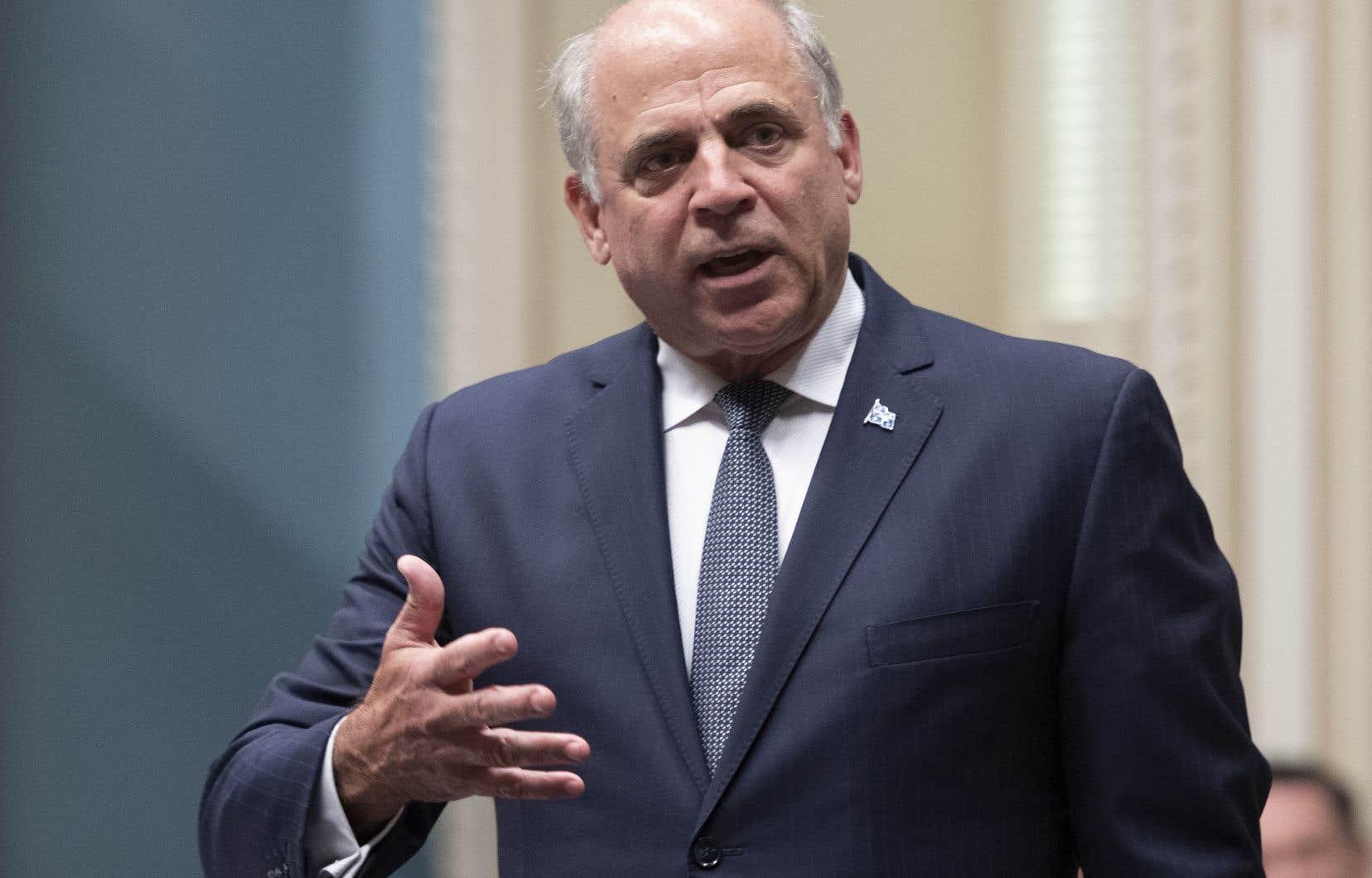 Le ministre de l'Économie, Pierre Fitzgibbon