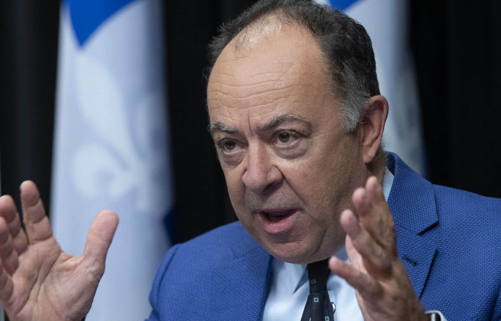 Le ministre de la Santé, Christian Dubé