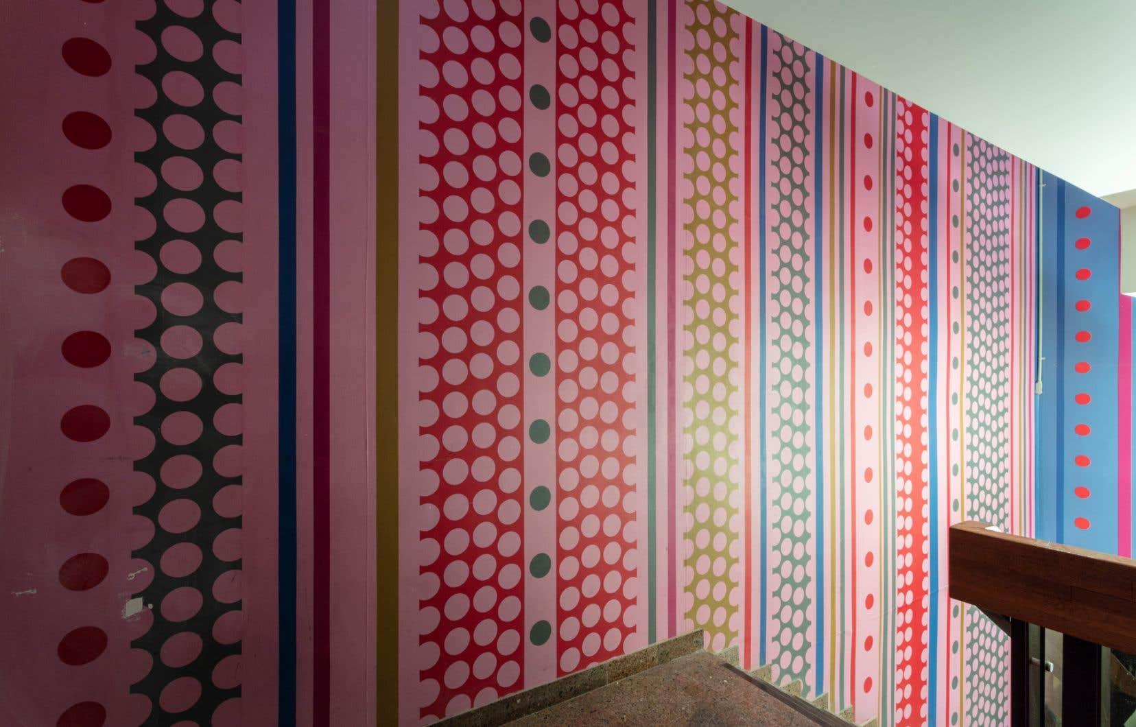 La murale de Robert Wolfe sera fragmentée pour former, réduite, une nouvelle œuvre.