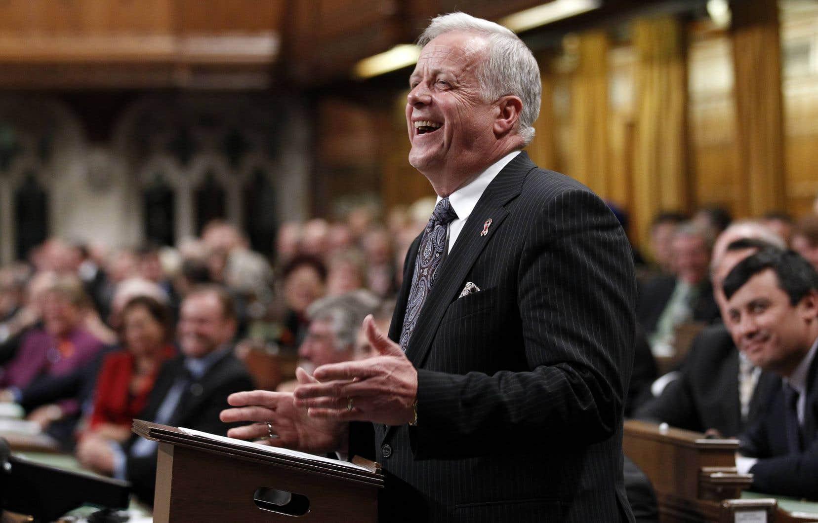 Jay Hill, 67 ans, a pris sa retraite en 2010, alors qu'il siégeait au cabinet de Stephen Harper en tant que leader du gouvernement en Chambre.