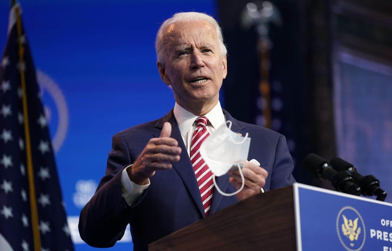 Le président élu américain Joe Biden