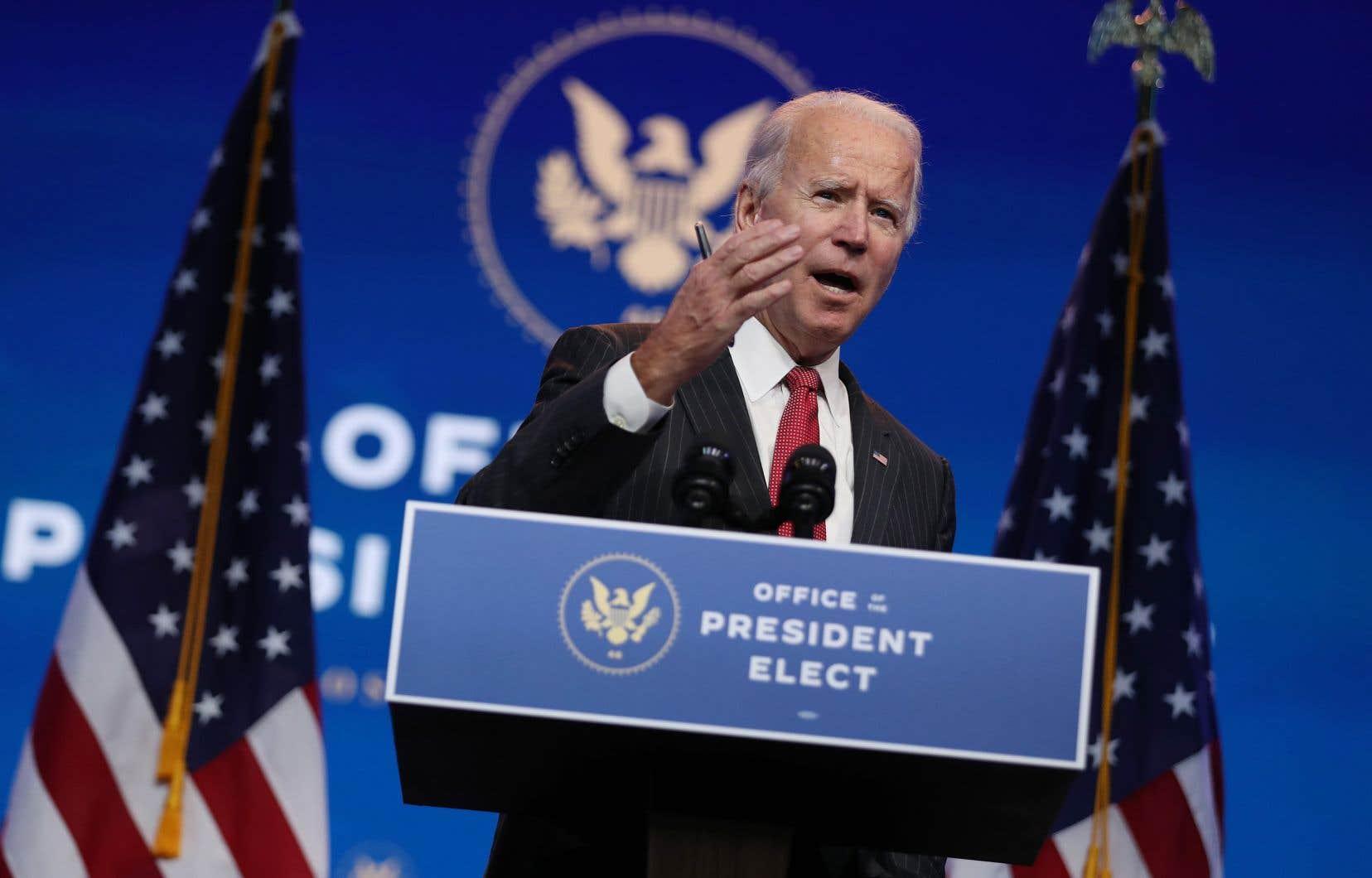 Joe Biden n'a pas exclu de se tourner vers les tribunaux pour forcer la transition.