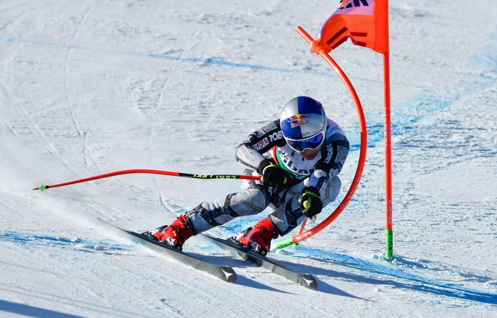 Mikaela Shiffrin en épreuve de Coupe du monde de ski alpin à Bansko (Bulgarie), en janvier 2020.