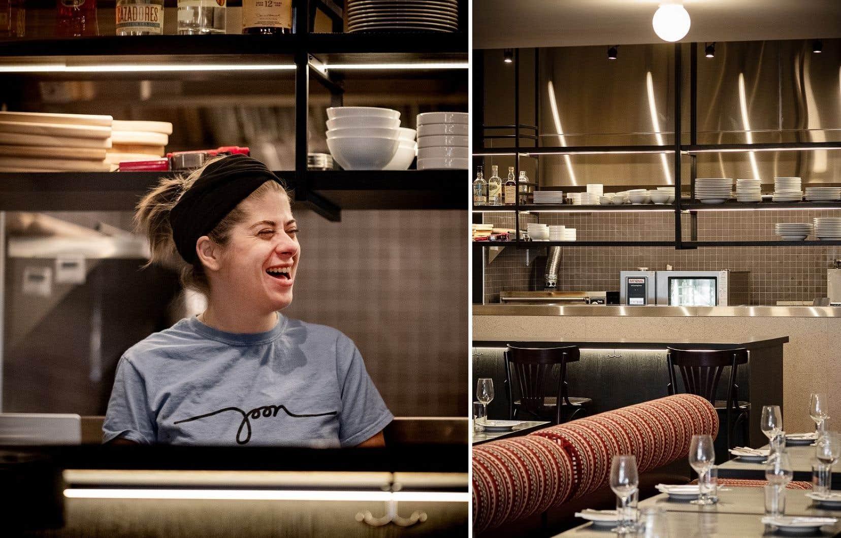 La nouvelle salle à manger du Joon est vide, mais dans la cuisine, la cheffe Erin Mahoney s'active à préparer des plats inspirés de l'Arménie, de l'Iran et de la Géorgie.
