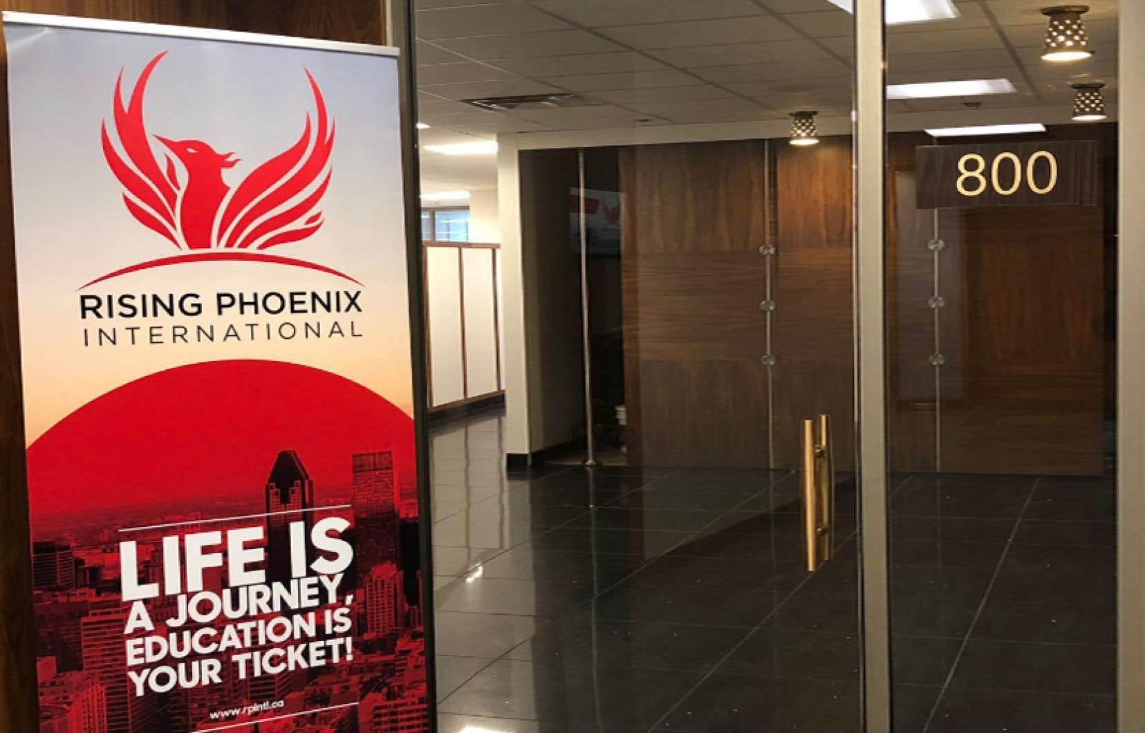 Établie à Montréal, l'entreprise Rising Phoenix International, compte trois actionnaires.