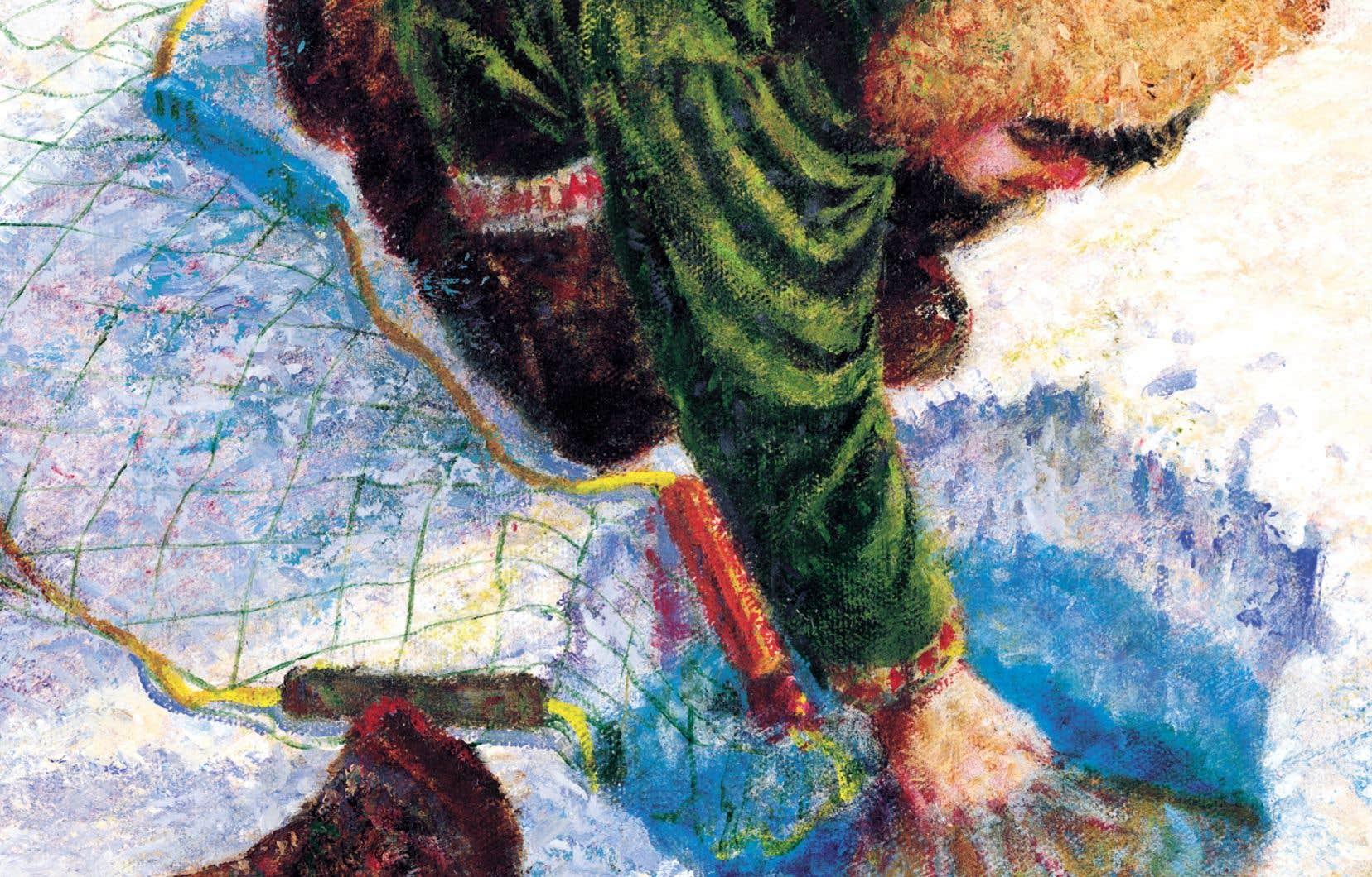Détail de l'illustration tirée d'«Un renard sur la glace»