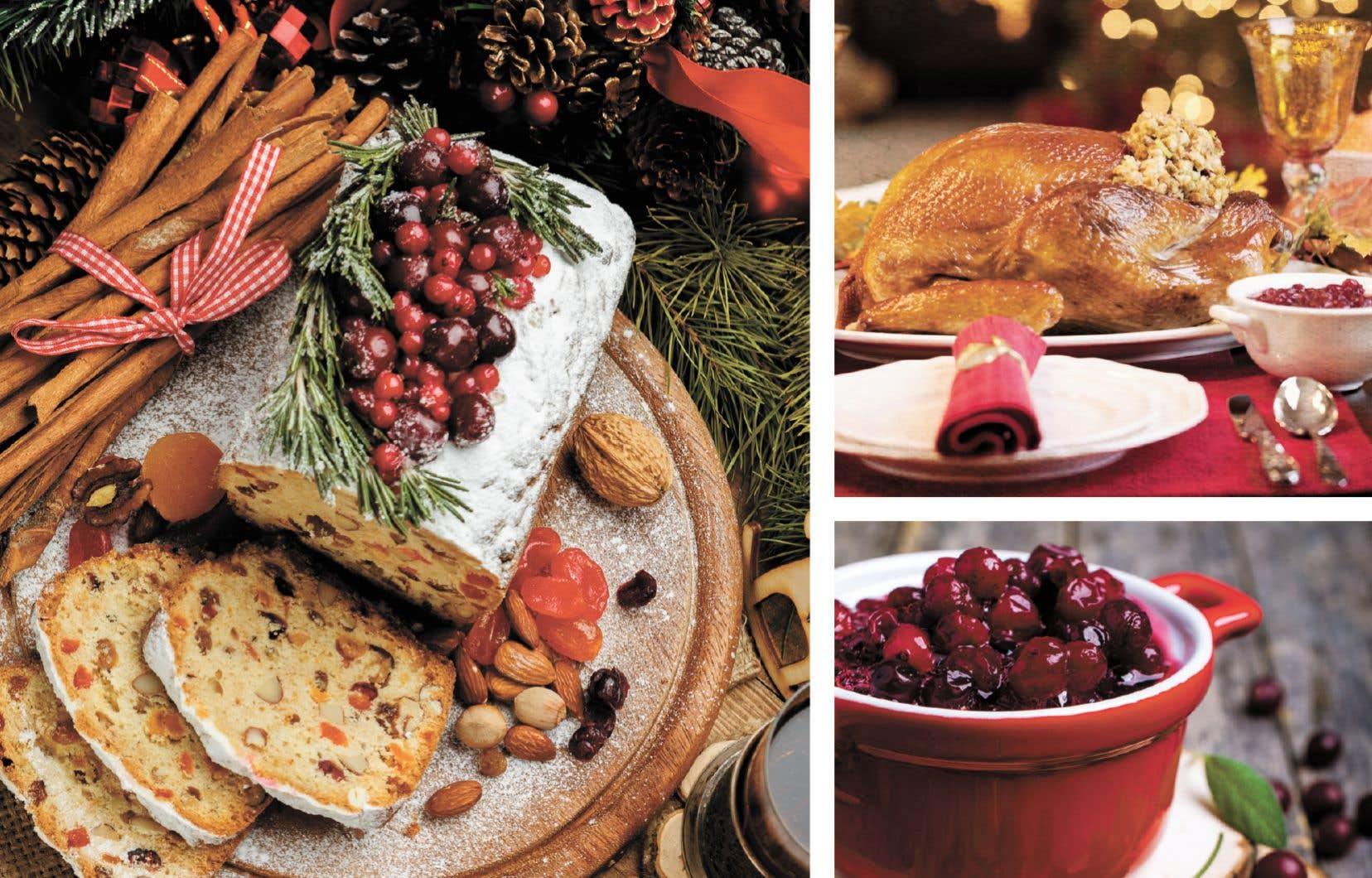 Le gâteau aux fruits, la dinde et les canneberges font partie des traditions alimentaires des Fêtes de bien des familles québécoises.