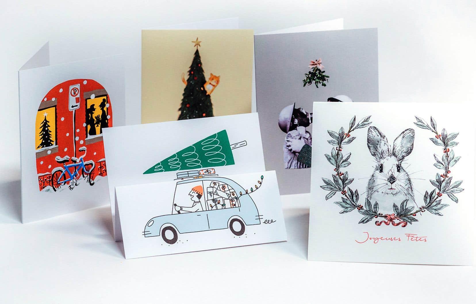 «Une carte de Noël, c'est une décoration, mais aussi un trophée; pas étonnant qu'on aime en recevoir», souligne Daniel H. Lanteigne.
