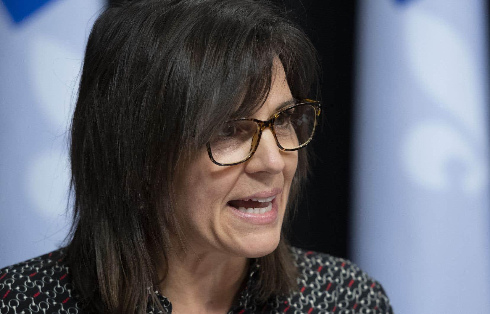 La ministre responsable du Sport, Isabelle Charest