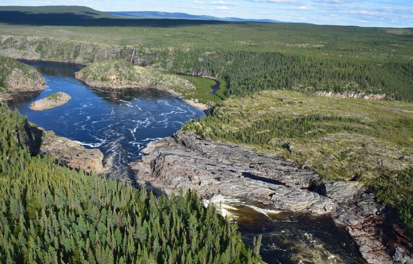 Parmi les nouvelles aires protégées, on retrouve le Canyon Eaton, un territoire situé à proximité de Schefferville.