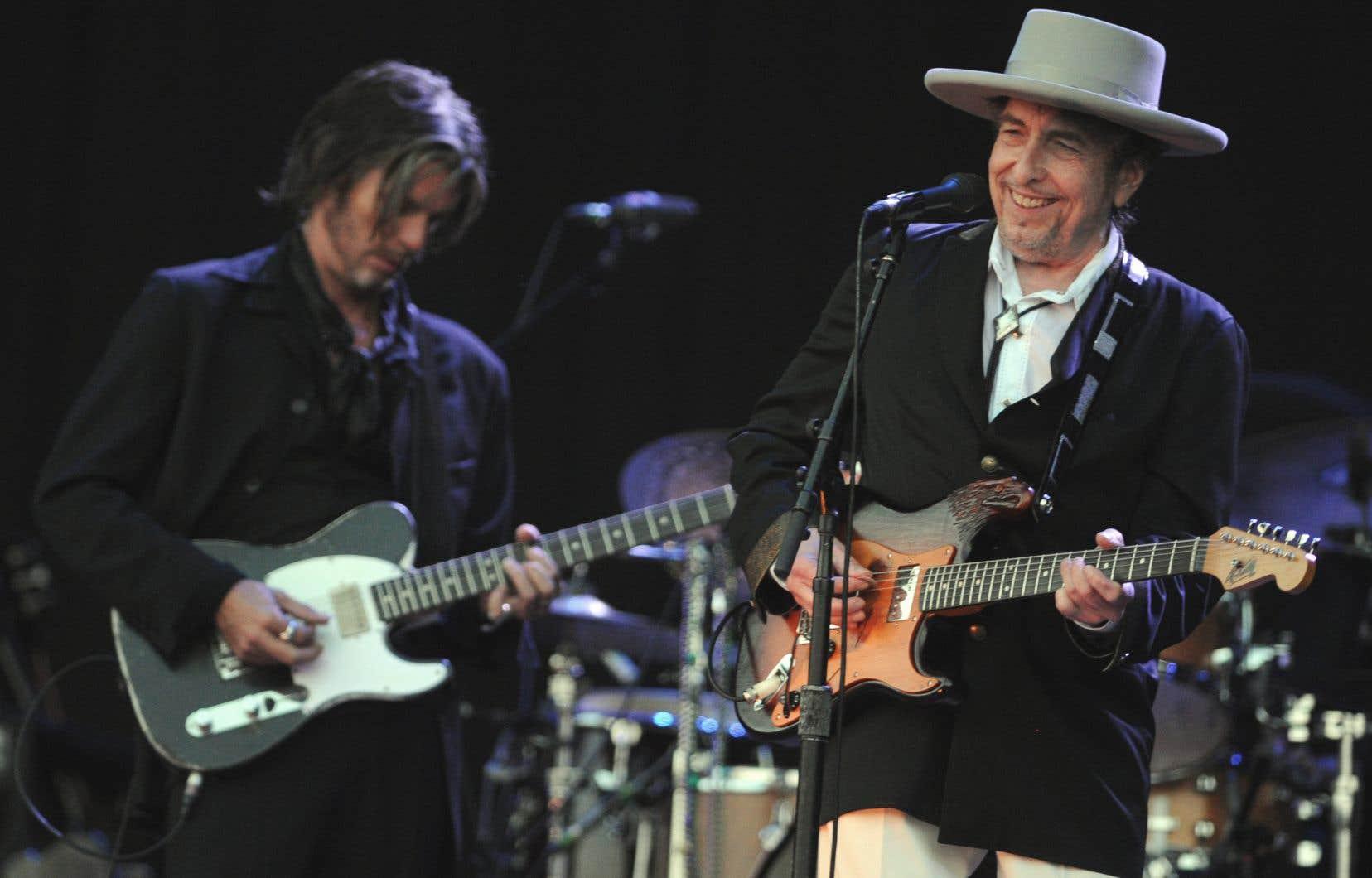 Le chanteur Bob Dylan en 2012