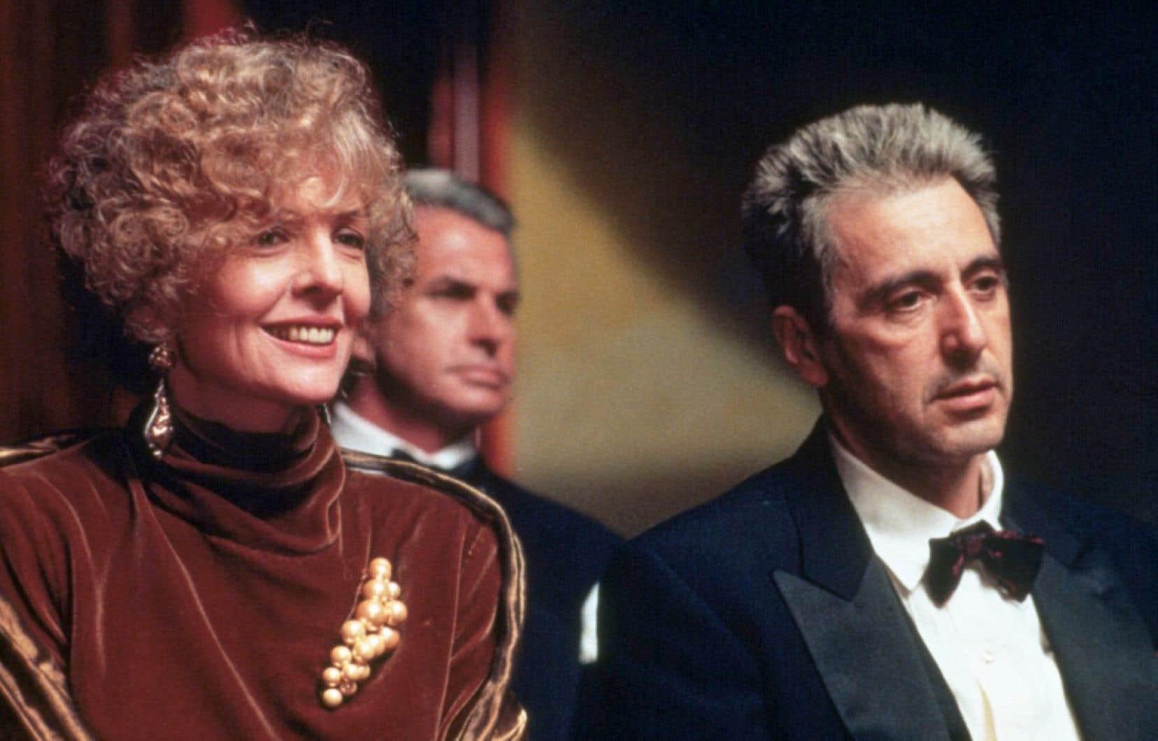 Diane Keaton, Georges Hamilton et Al Pacino dans The Godfather, Coda: the Death of Michael Corleone