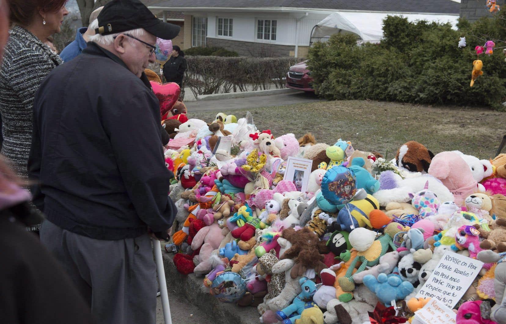 La mort de la petite Rosalie Gagnon avait ému tout le Québec en avril 2018.