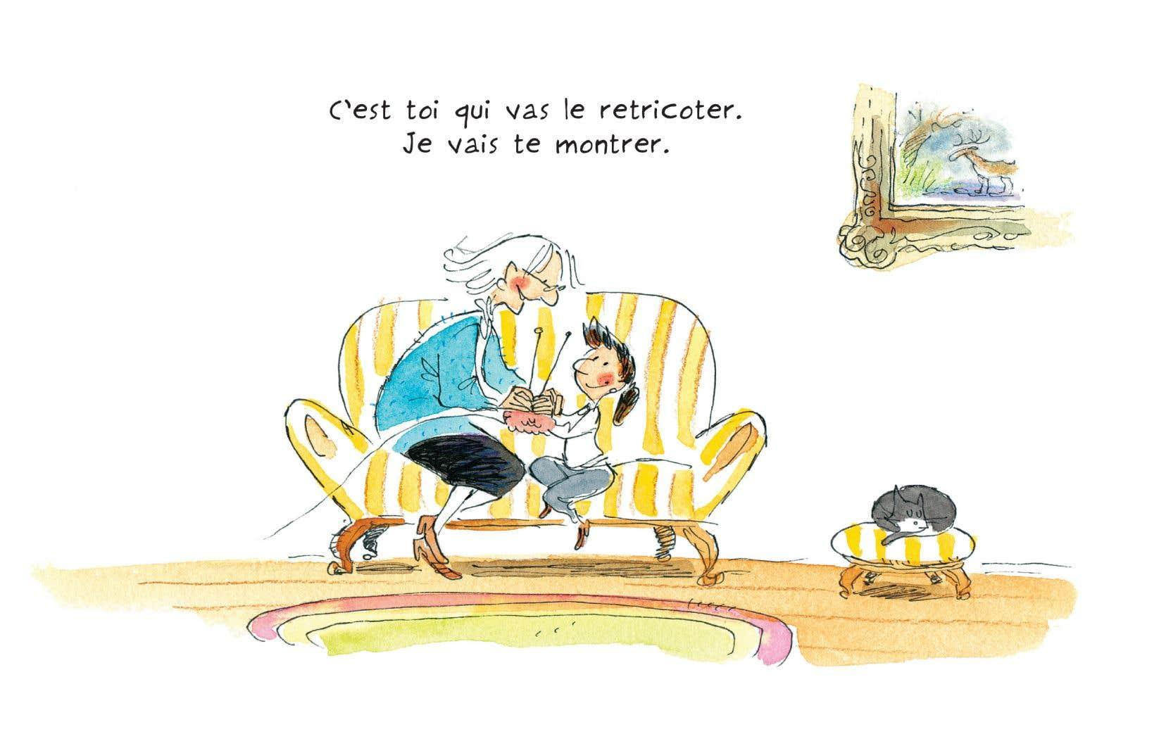 Illustration tirée du livre «Le tricot» de Jacques Goldstyn