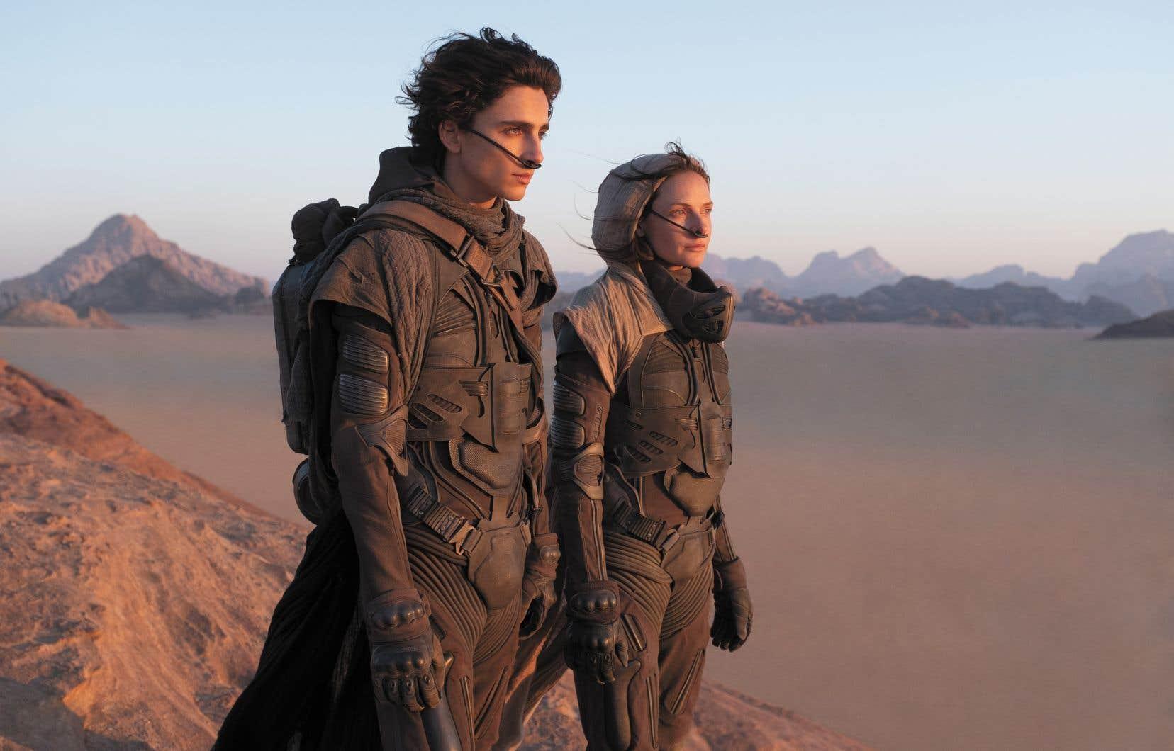 Timothée Chalamet et Rebecca Ferguson dans une scène du film «Dune» du réalisateur québécois Denis Villeneuve