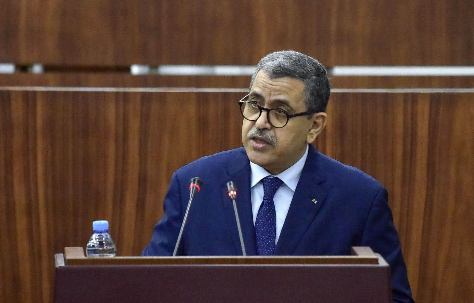 Le premier ministre algérien, Abdelaziz Djerad