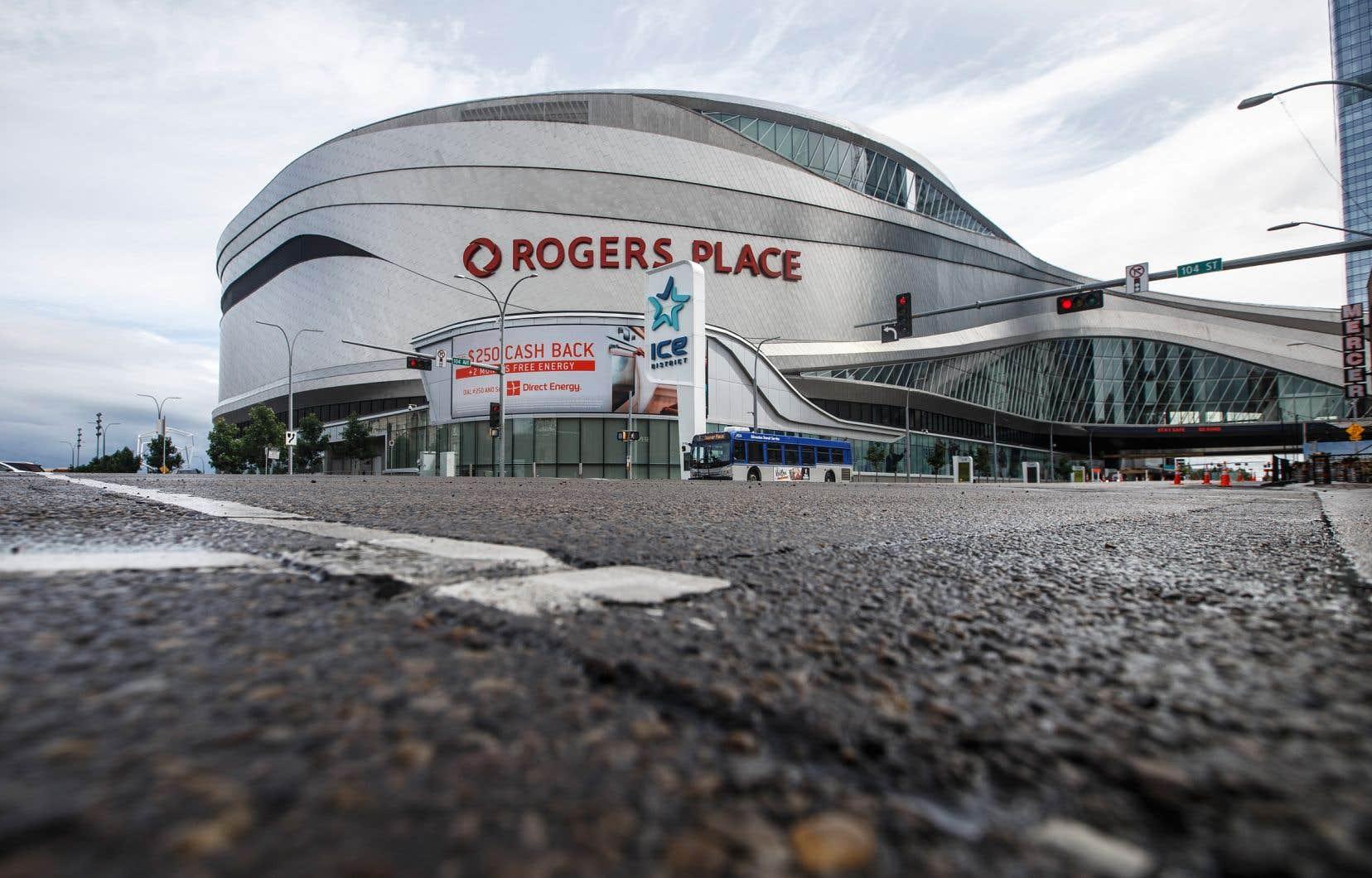 L'aréna Rogers Place à Edmonton