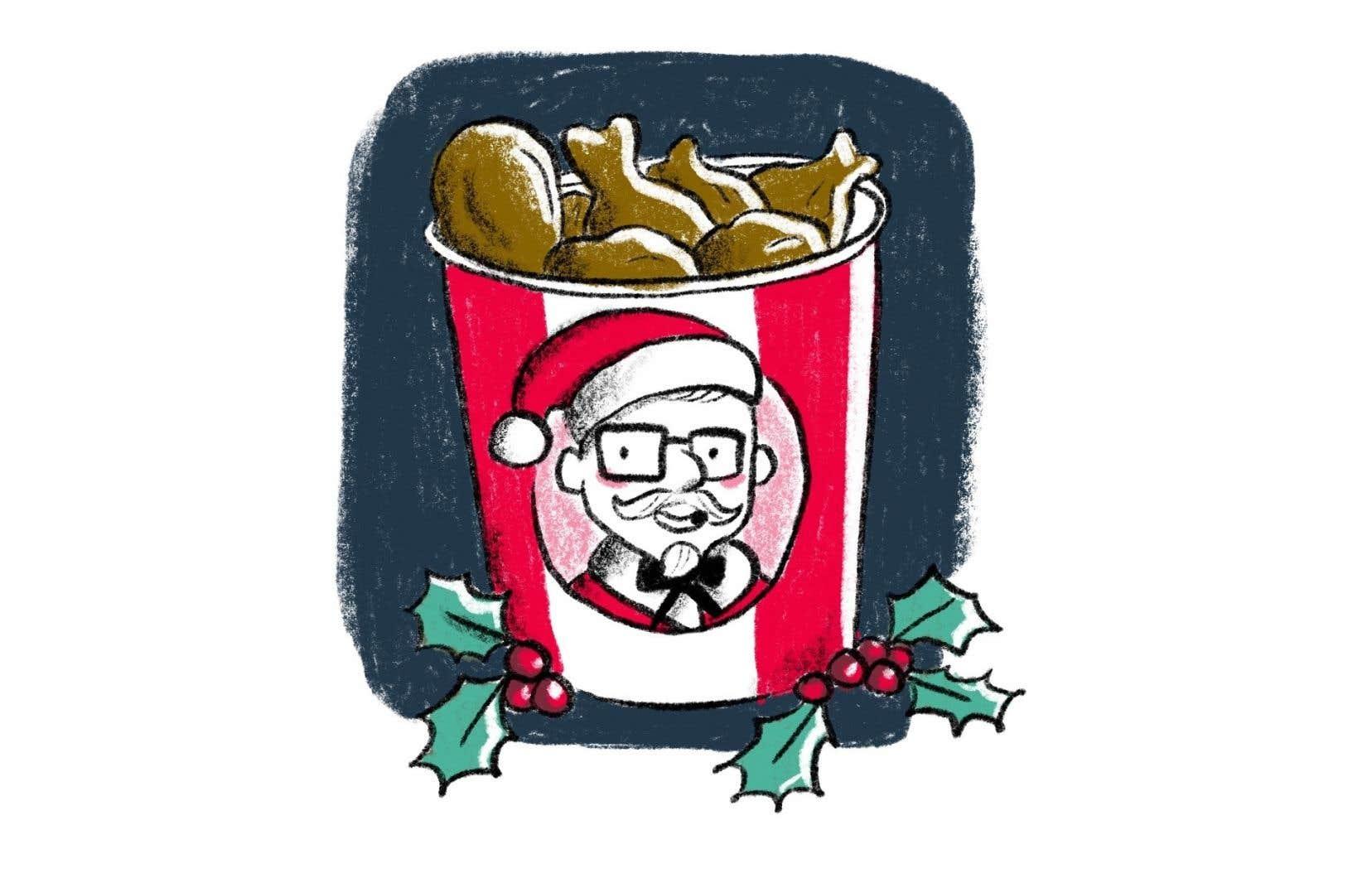 Au Japon, des millions de familles japonaises profitent de Noël pour se rassembler et pour manger… du Poulet Frit Kentucky!